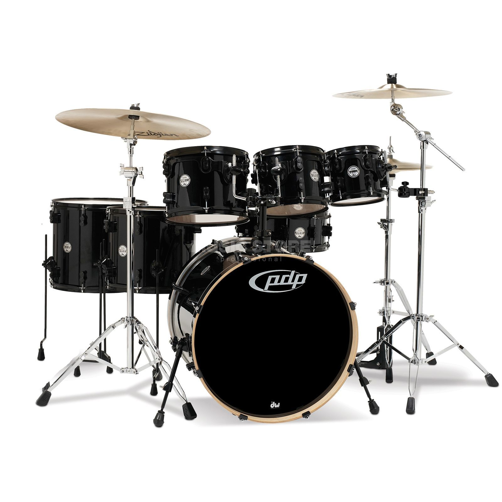 Drum Workshop PDP Concept Maple CM7, Pearlescent Black Produktbillede