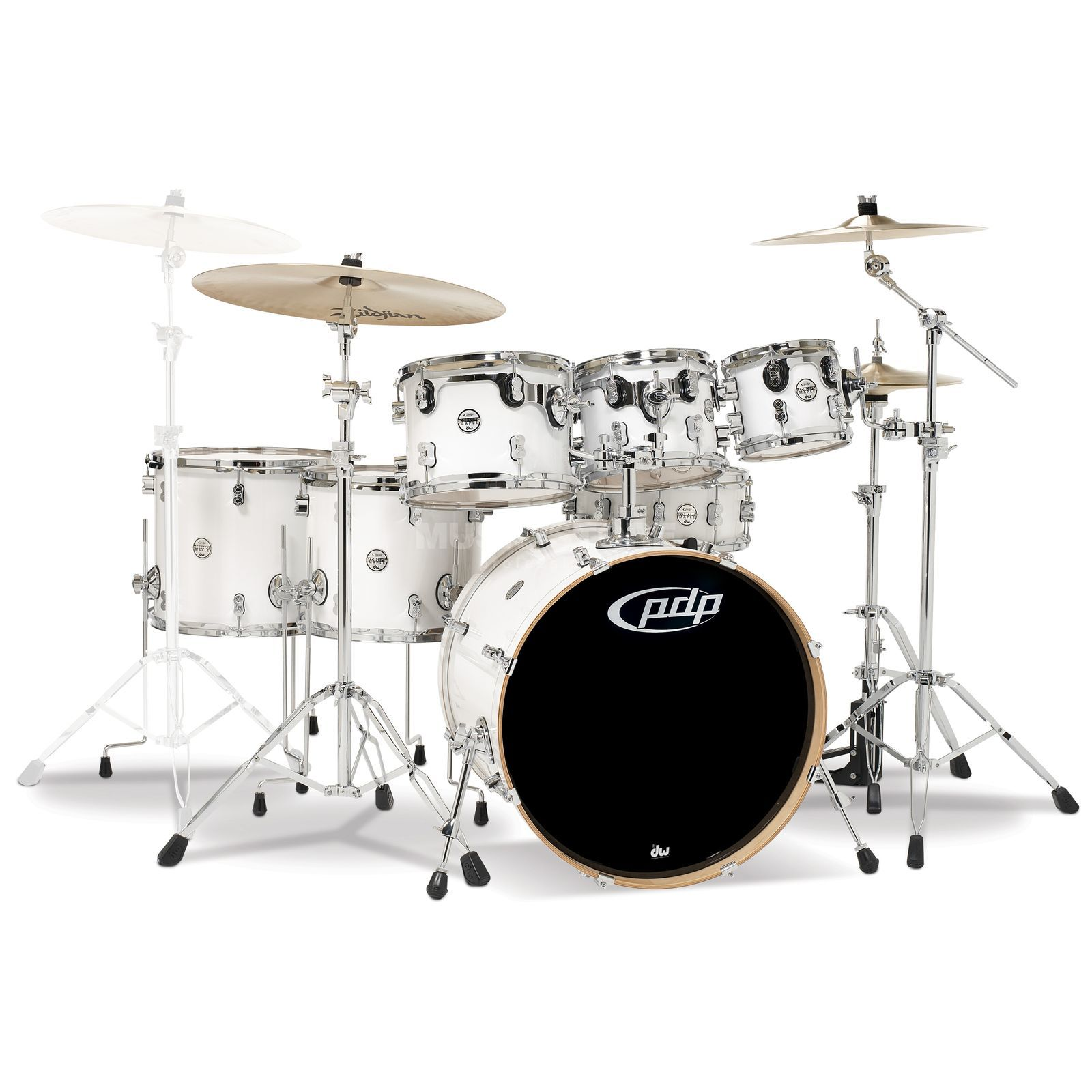 Drum Workshop PDP Concept Maple CM7, Pearlescent White Produktbillede
