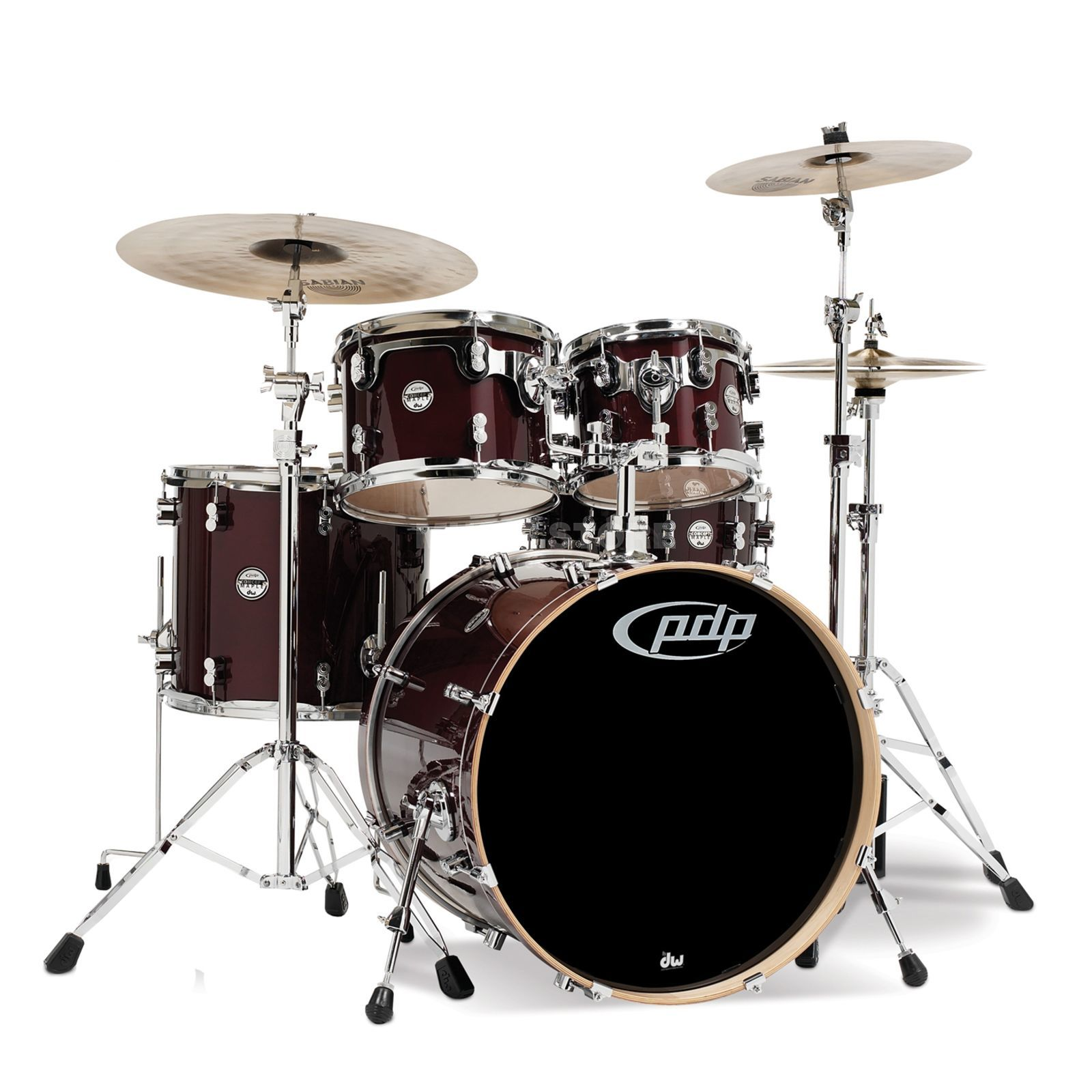 Drum Workshop PDP Concept Maple Studio CM5, Transparent Cherry Produktbild