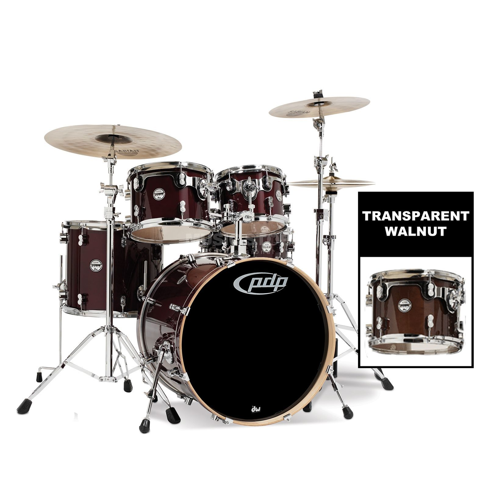 Drum Workshop PDP Concept Maple Studio CM5, Transparent Walnut Produktbild