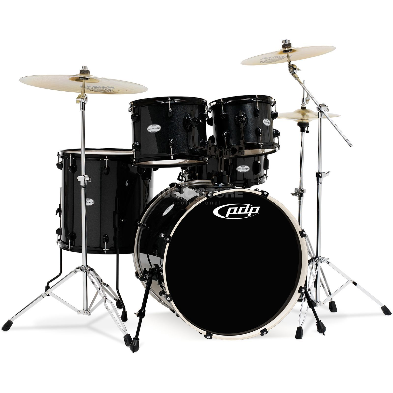 Drum Workshop PDP Mainstage Rock, Black Metallic, Black HW Produktbild