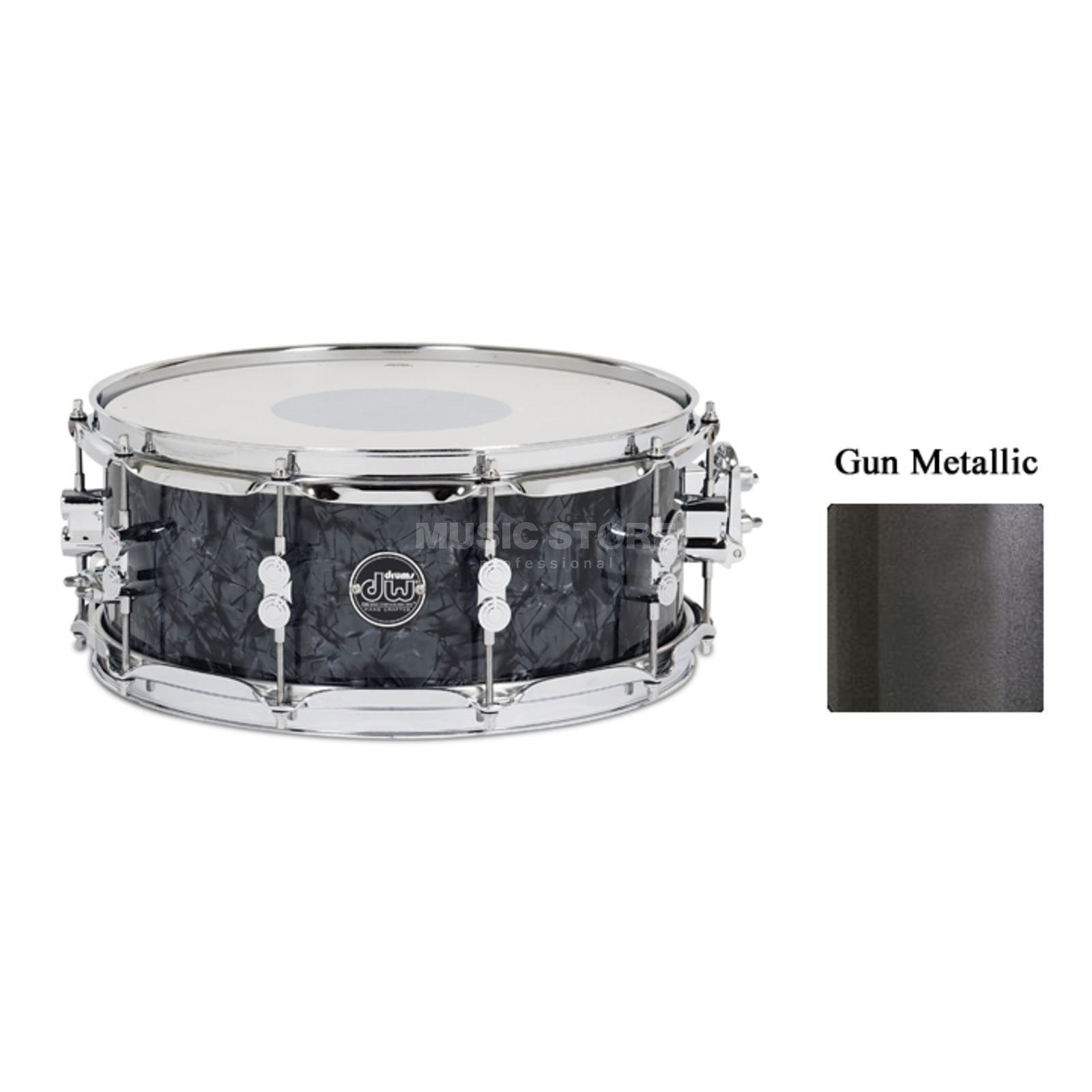 "Drum Workshop Performance Lacquer Snare, 14""x5,5"",Gun Metal Metallic Produktbild"