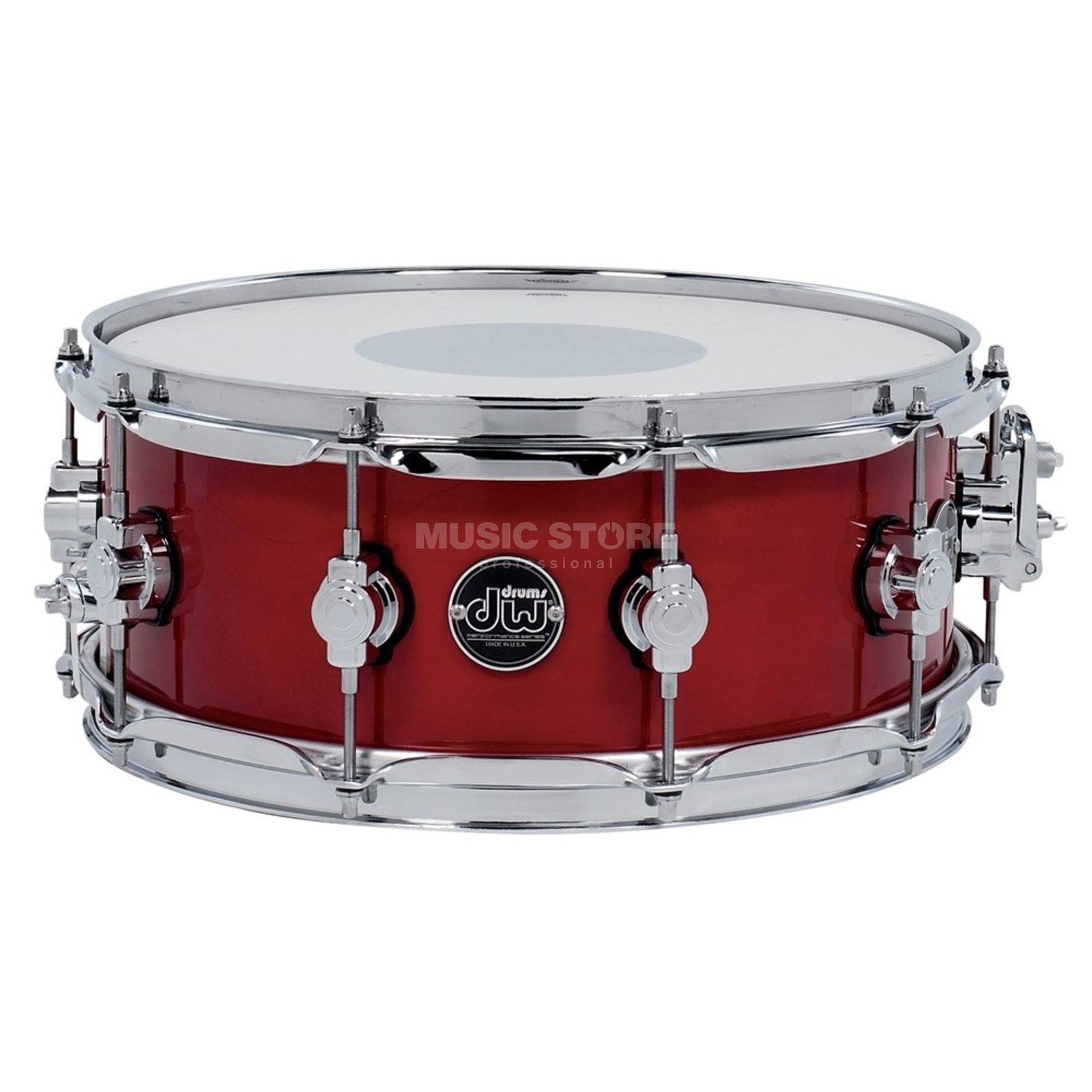 "Drum Workshop Performance Lacquer Snare, 14""x6,5"", Candy Apple Red Produktbillede"