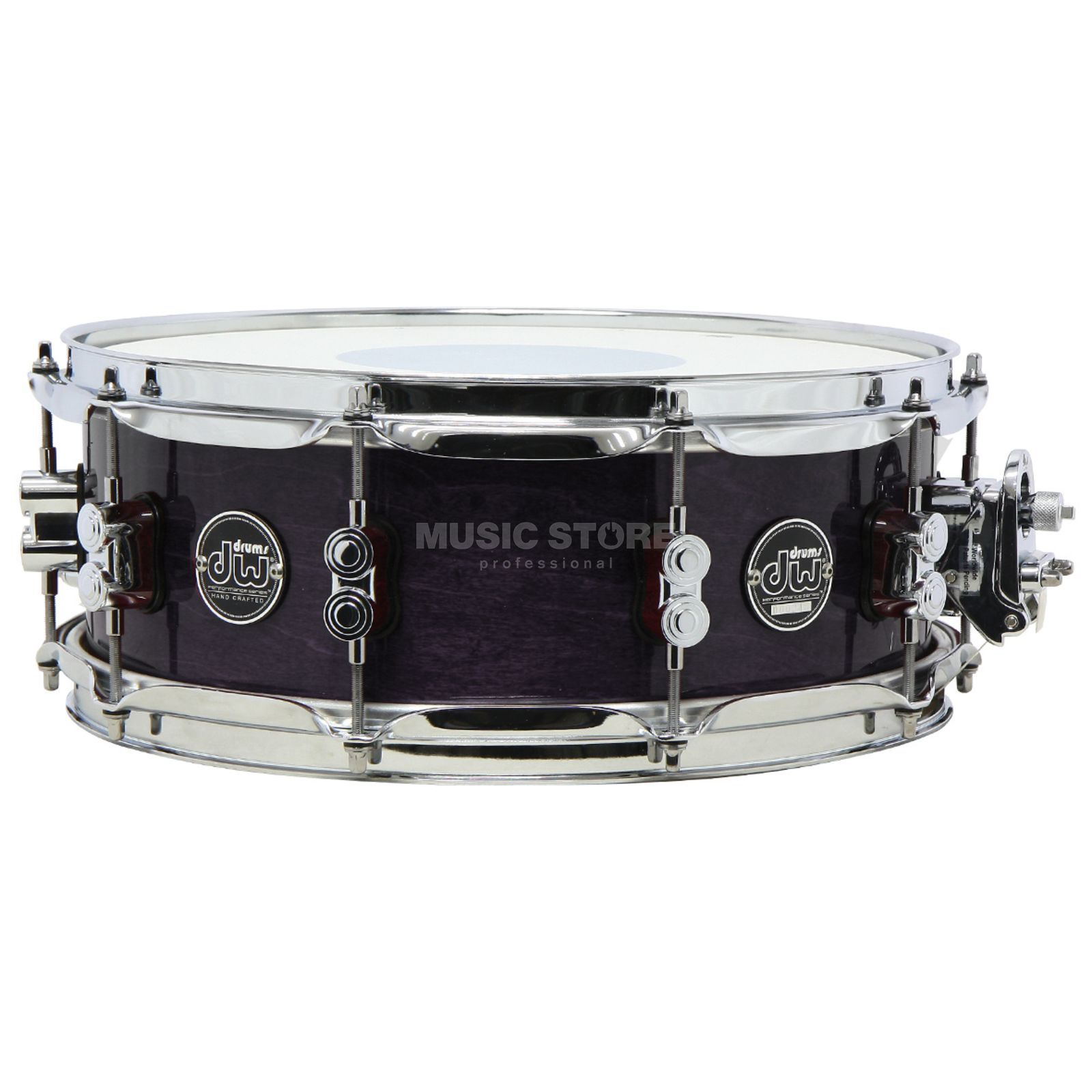 "Drum Workshop Performance Lacquer Snare, 14""x6,5"", Ebony Stain Produktbild"