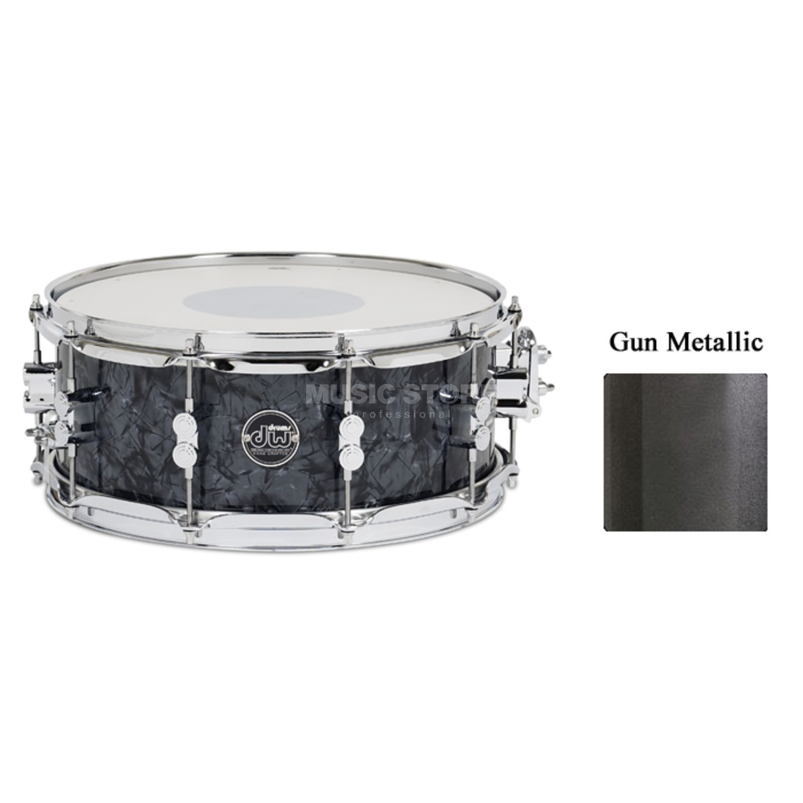 "Drum Workshop Performance Lacquer Snare, 14""x6,5"", Gun Metal Metallic Produktbild"