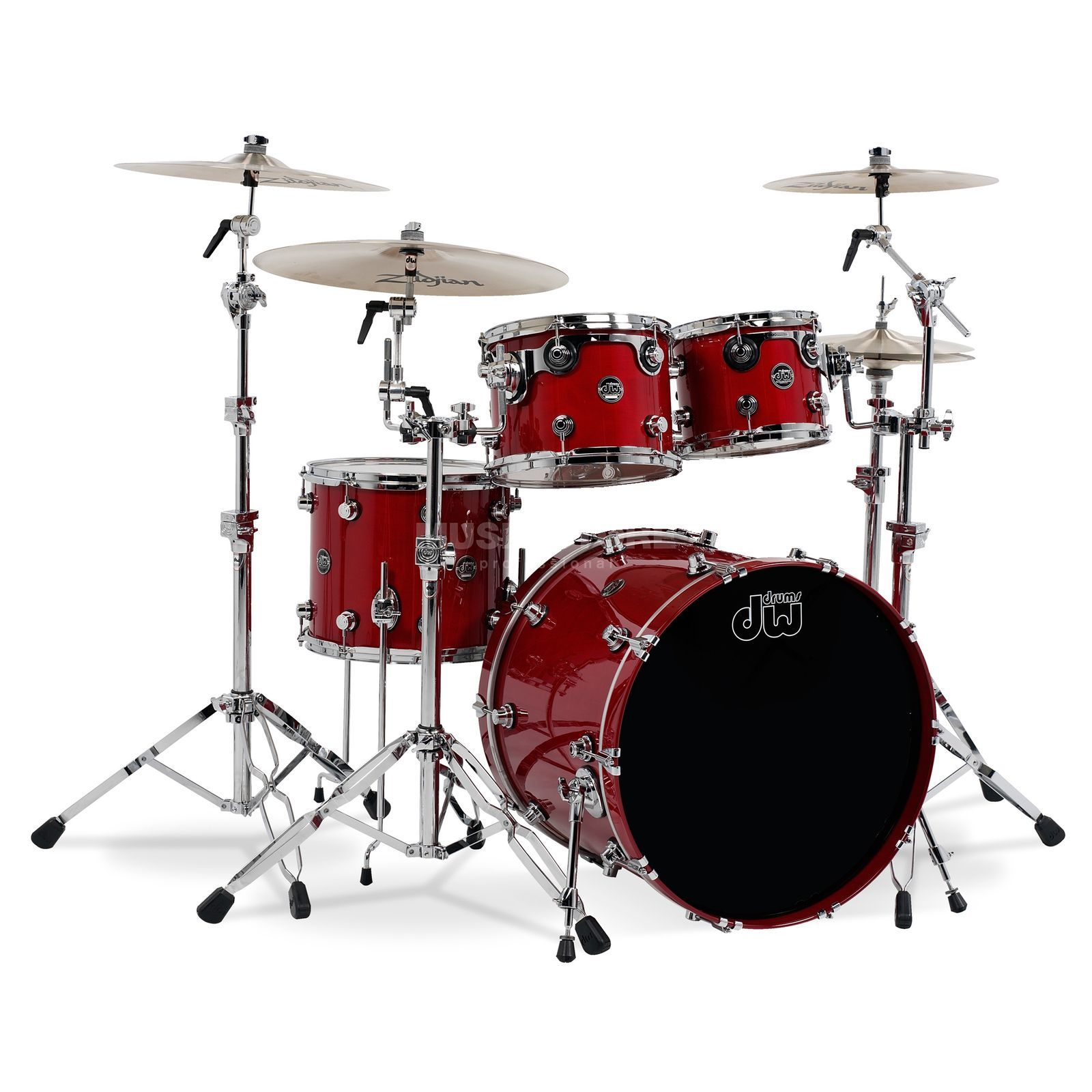 "Drum Workshop Performance ShellSet ""Fusion"", Lacquer, Candy Apple Red Produktbillede"