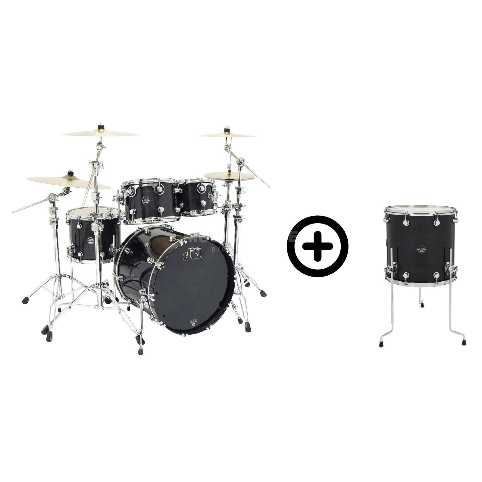 "Drum Workshop Performance ShellSet ""Fusion"", Lacquer, Ebony Stain Produktbillede"