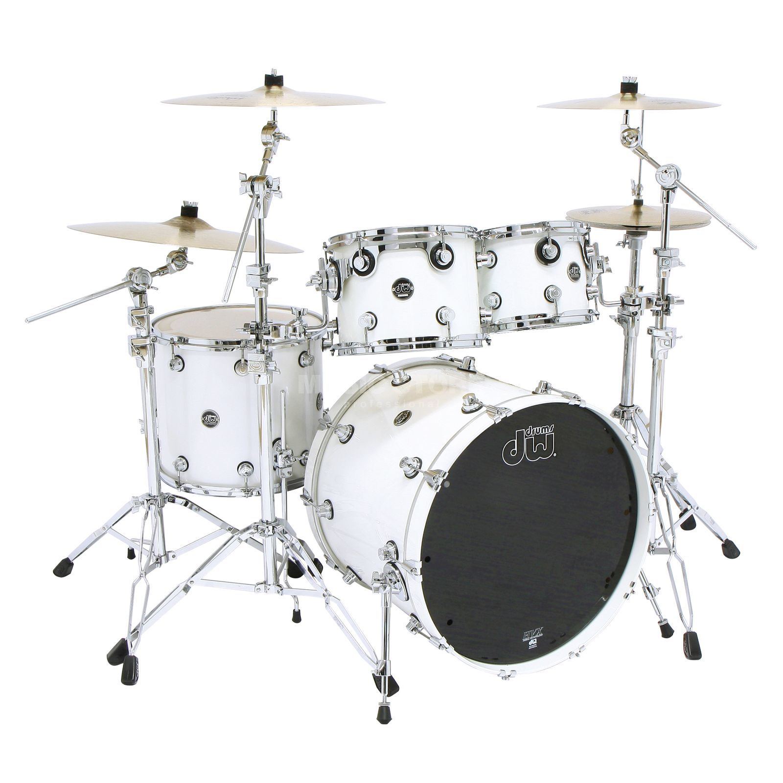 "Drum Workshop Performance ShellSet ""Fusion"", Lacquer, Pearlescent White Produktbillede"