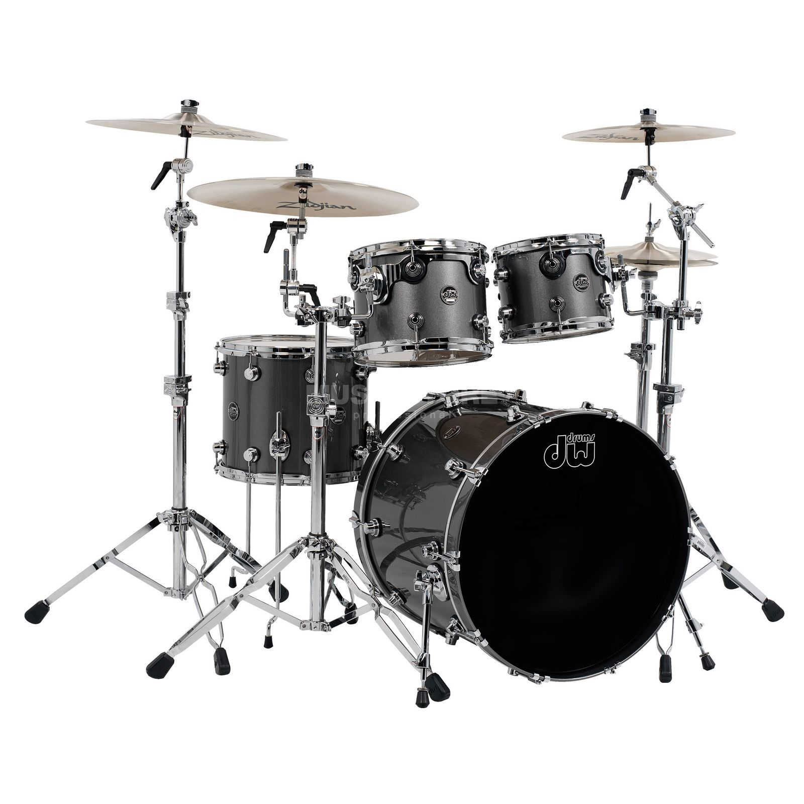 "Drum Workshop Performance ShellSet ""JazzII"", Lacquer, Gun Metal Metallic Produktbillede"