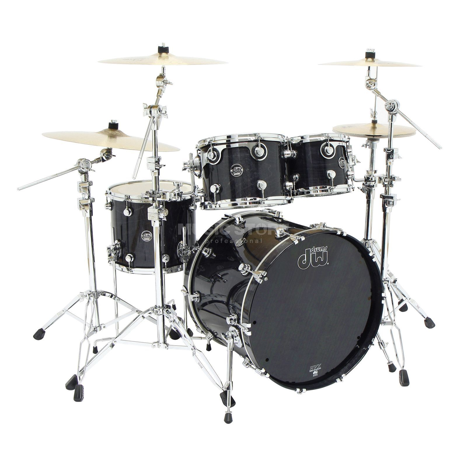 "Drum Workshop Performance ShellSet ""Rock"", Lacquer, Ebony Stain Produktbillede"