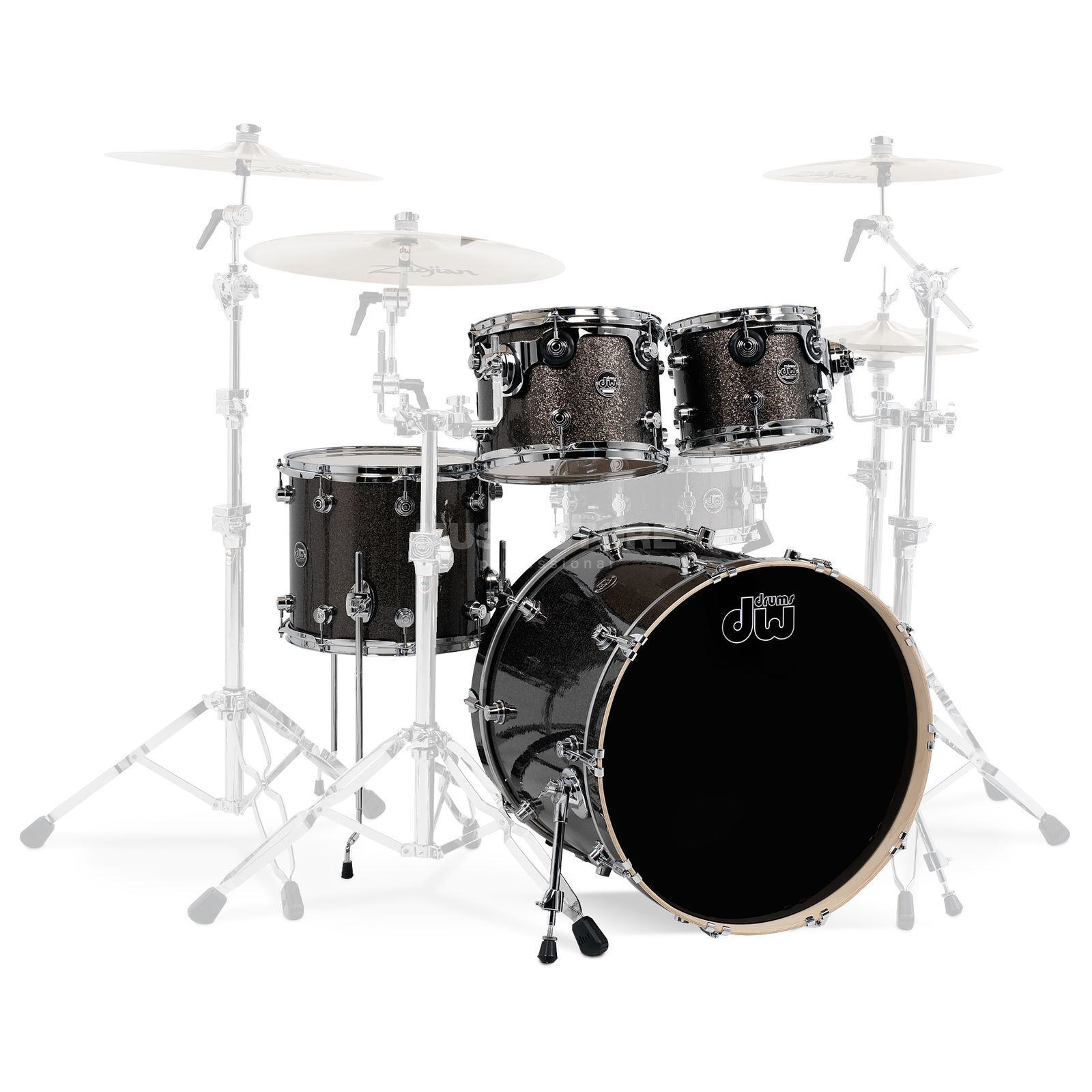 "Drum Workshop Performance ShellSet ""Stage"", Pewter Sparkle Produktbillede"