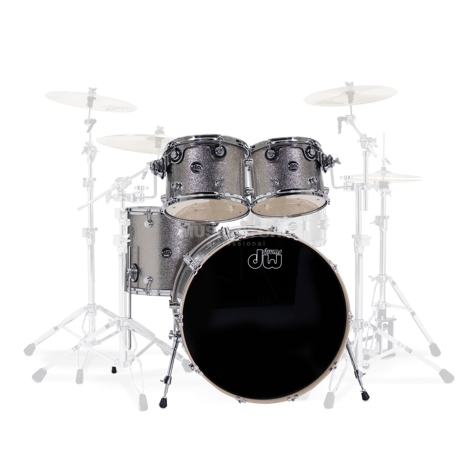 "Drum Workshop Performance ShellSet ""Stage"", Titanium Sparkle Product Image"