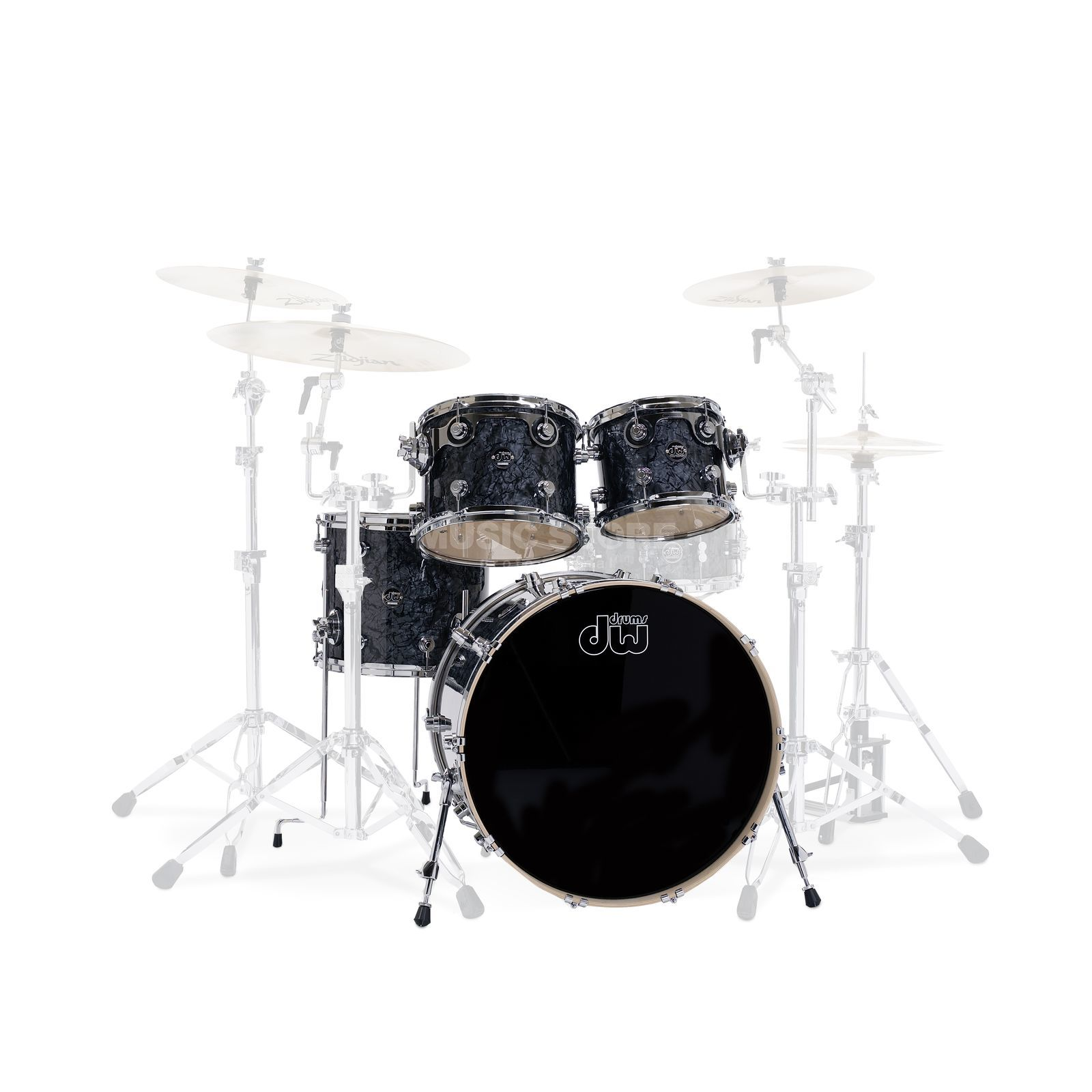 "Drum Workshop Performance ShellSet ""Studio"", Black Diamond Produktbillede"