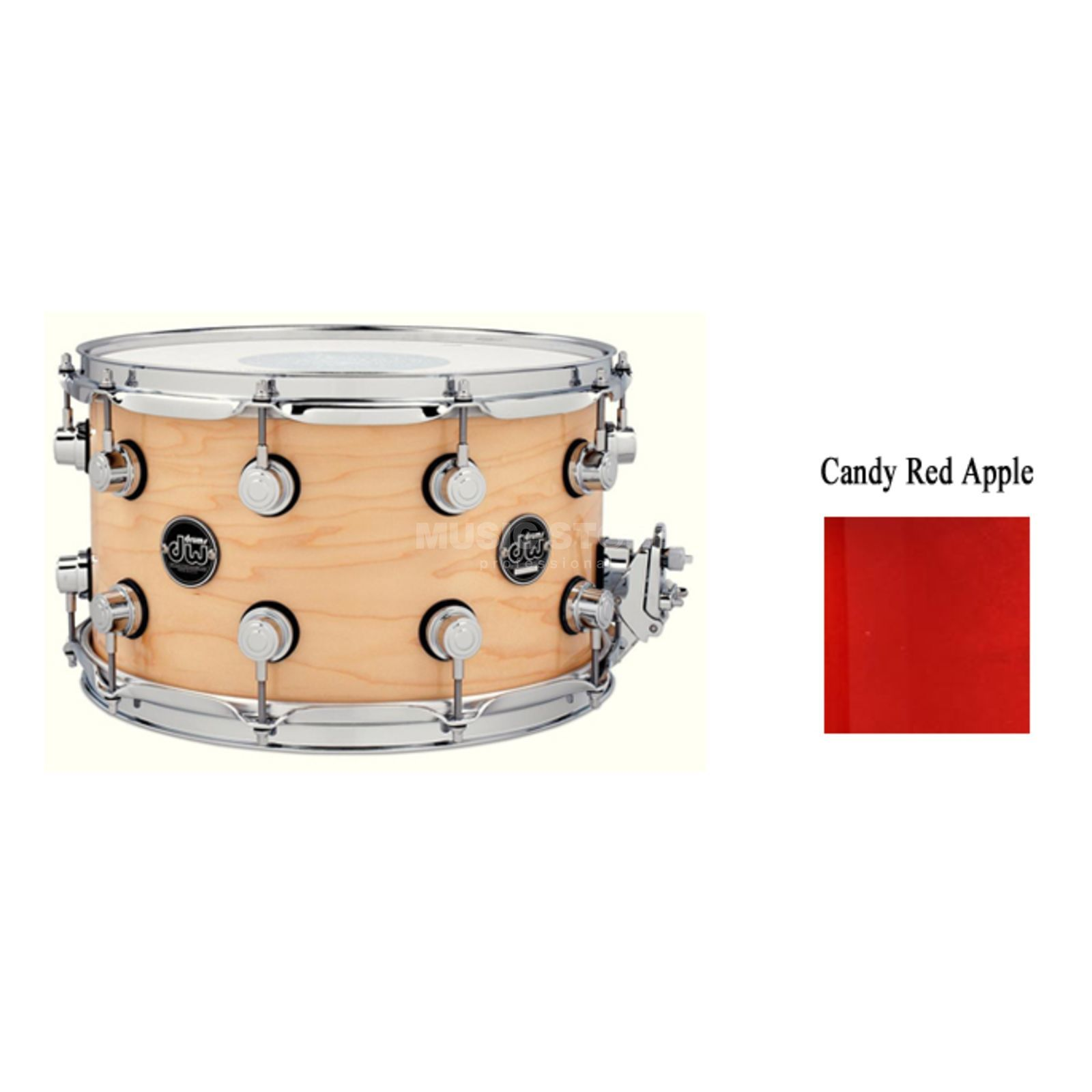 "Drum Workshop Performance Snare 13""x7"", Candy Apple Red Produktbild"