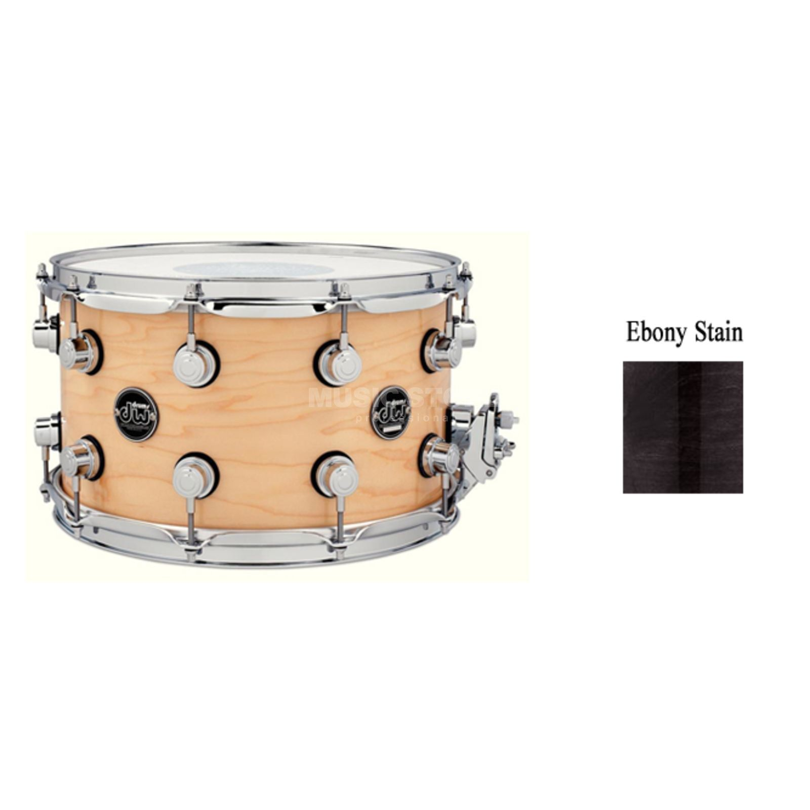 "Drum Workshop Performance Snare 13""x7"", Ebony Stain Produktbild"
