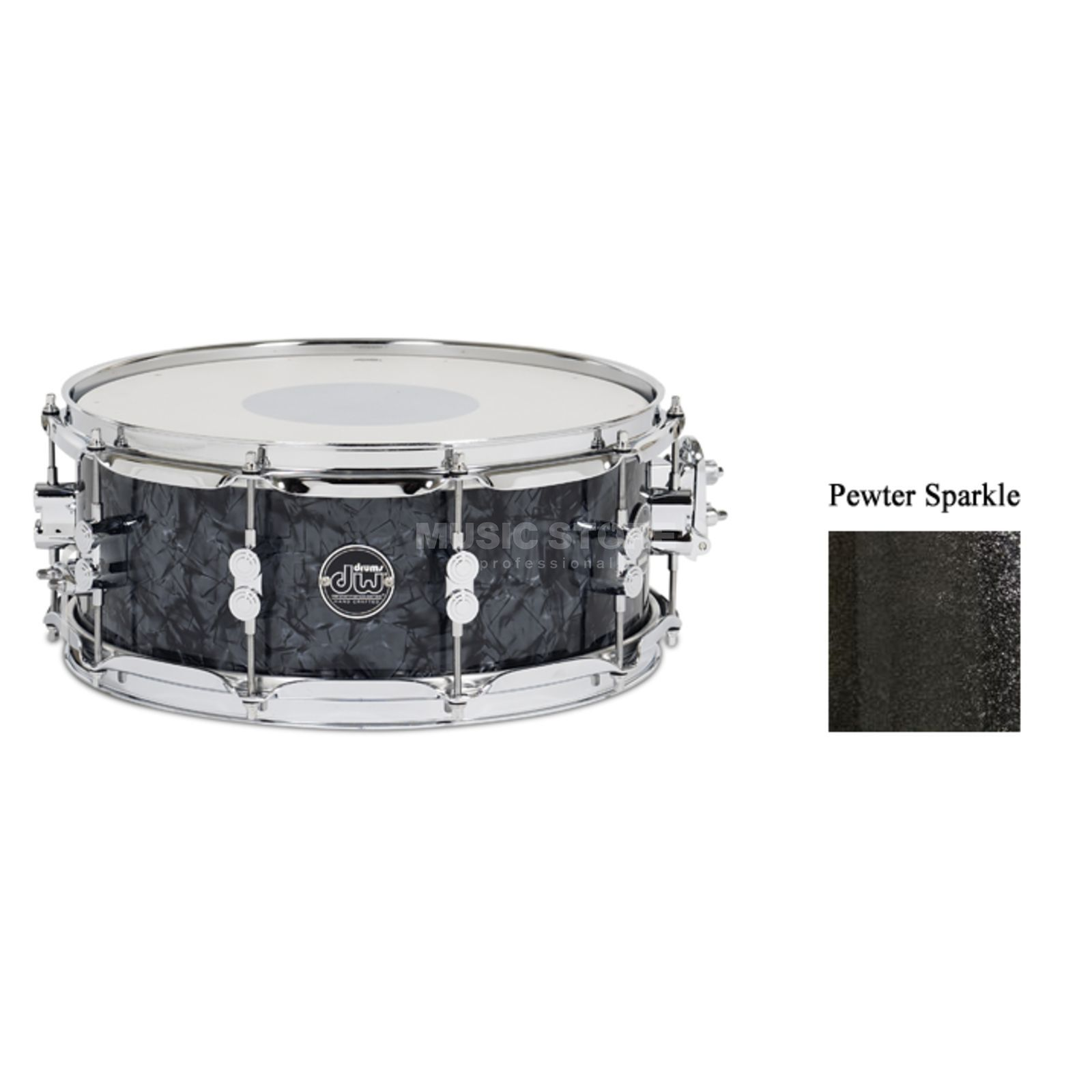 "Drum Workshop Performance Snare 14""x5,5"", Pewter Sparkle Produktbillede"