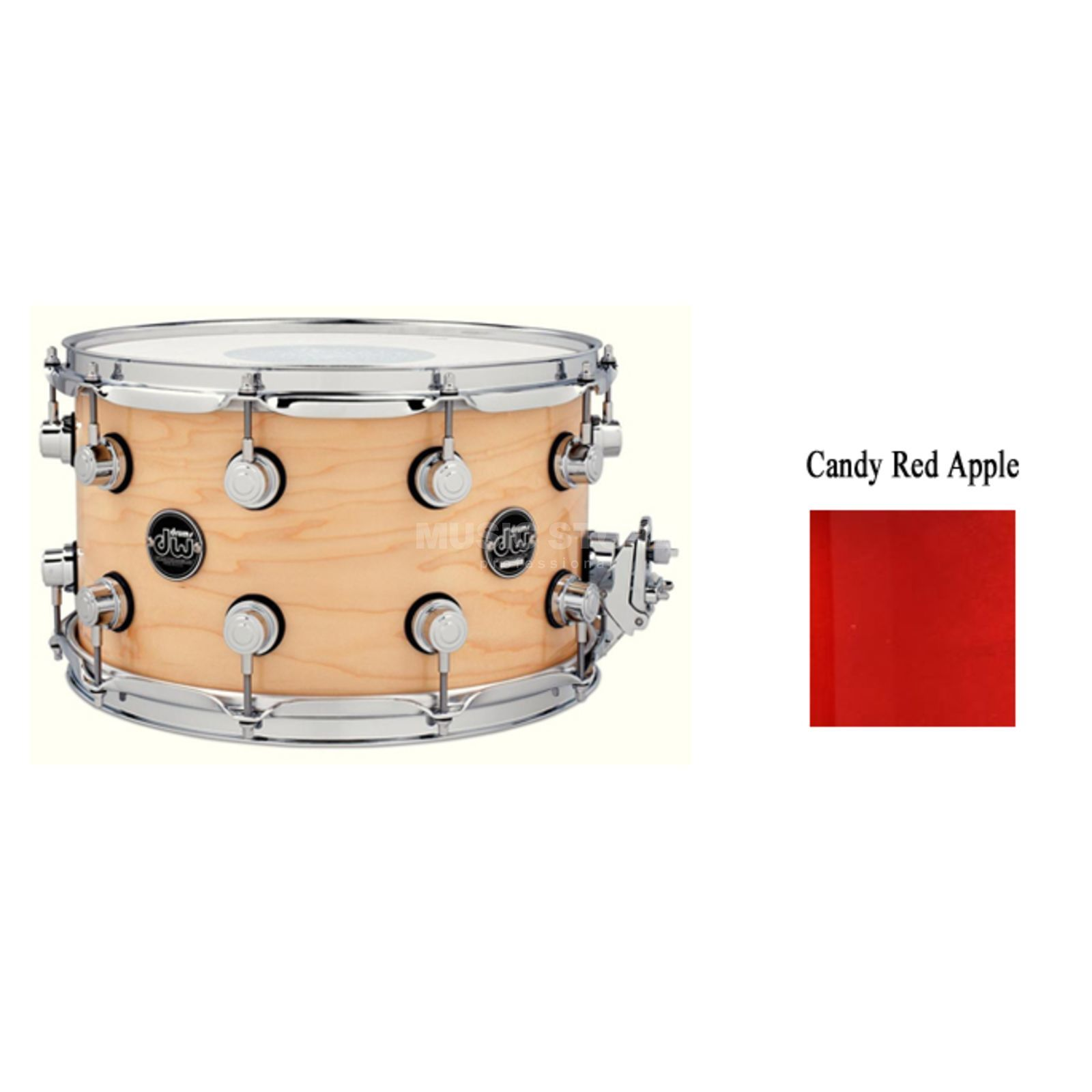 "Drum Workshop Performance Snare 14""x8"", Candy Apple Red Produktbillede"