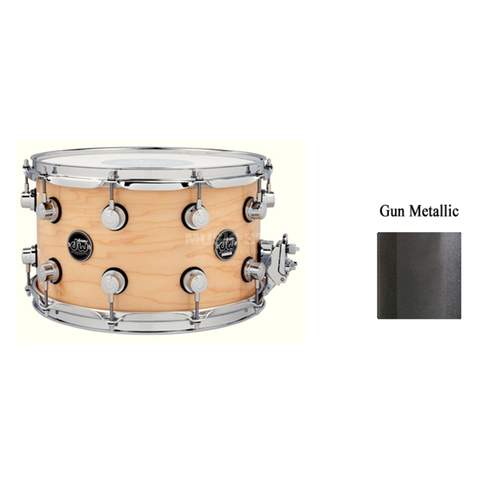 "Drum Workshop Performance Snare 14""x8"", Gun Metal Metallic Produktbild"