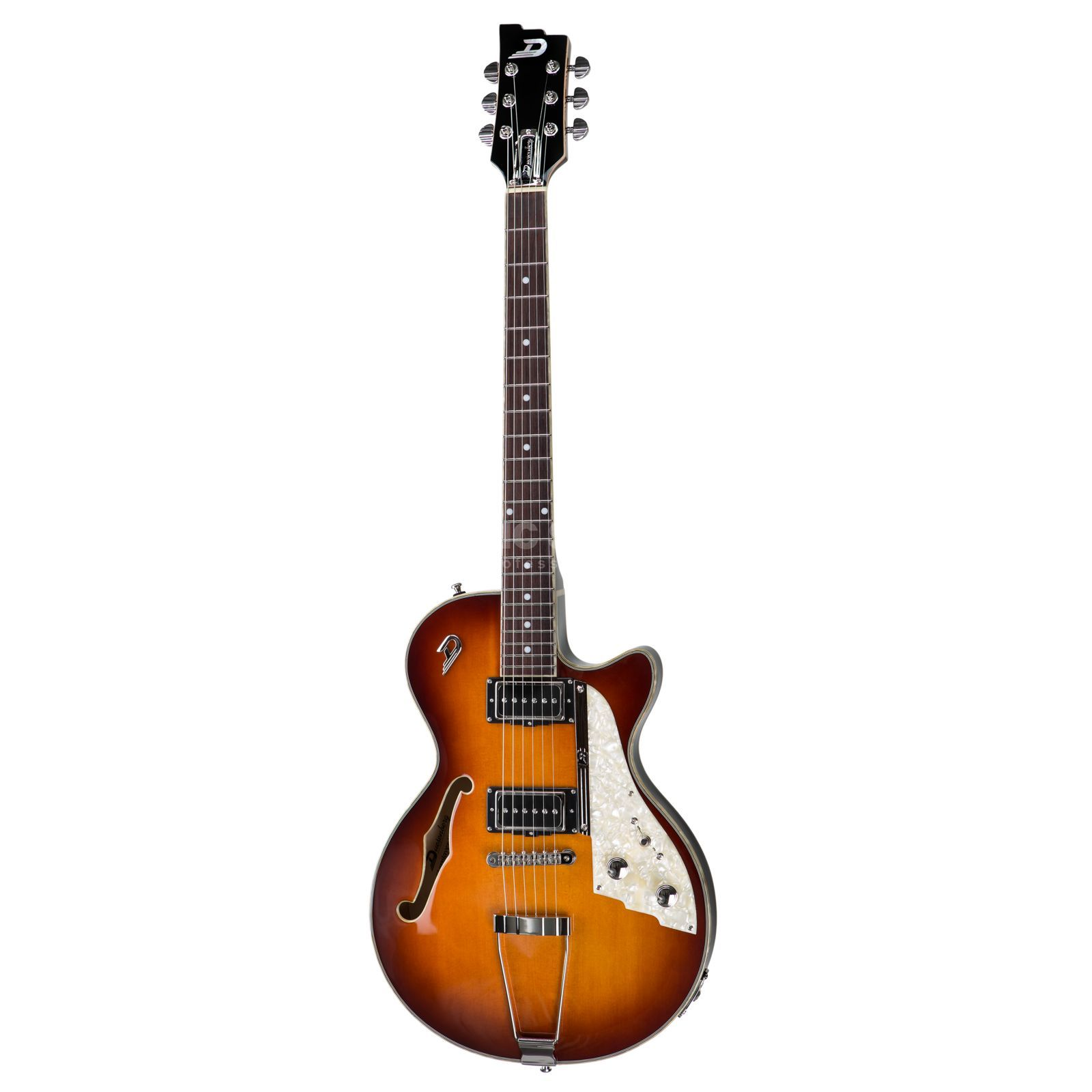 Duesenberg Starplayer TV Hollow VB Vintage Burst mit Koffer Produktbild