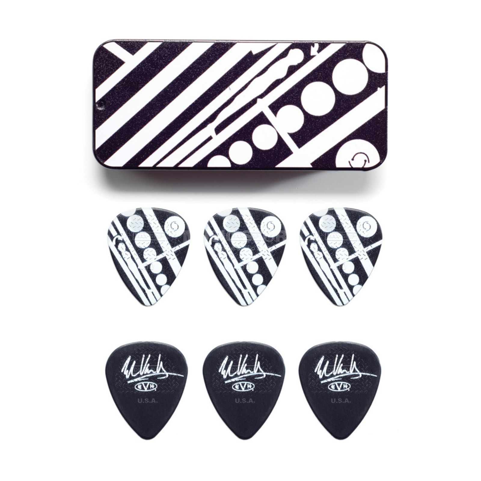 Dunlop EVH PT05 Circle Pick Tin 6-pack Product Image