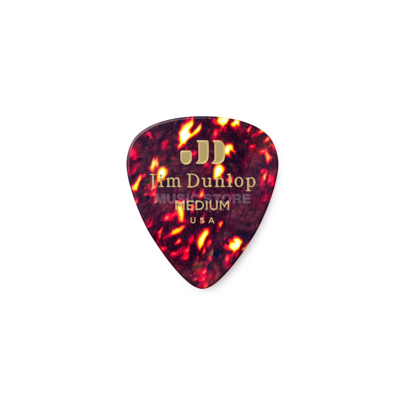 Dunlop Genuine Medium Picks Celluloid Box of 12, Shell 483 Produktbillede