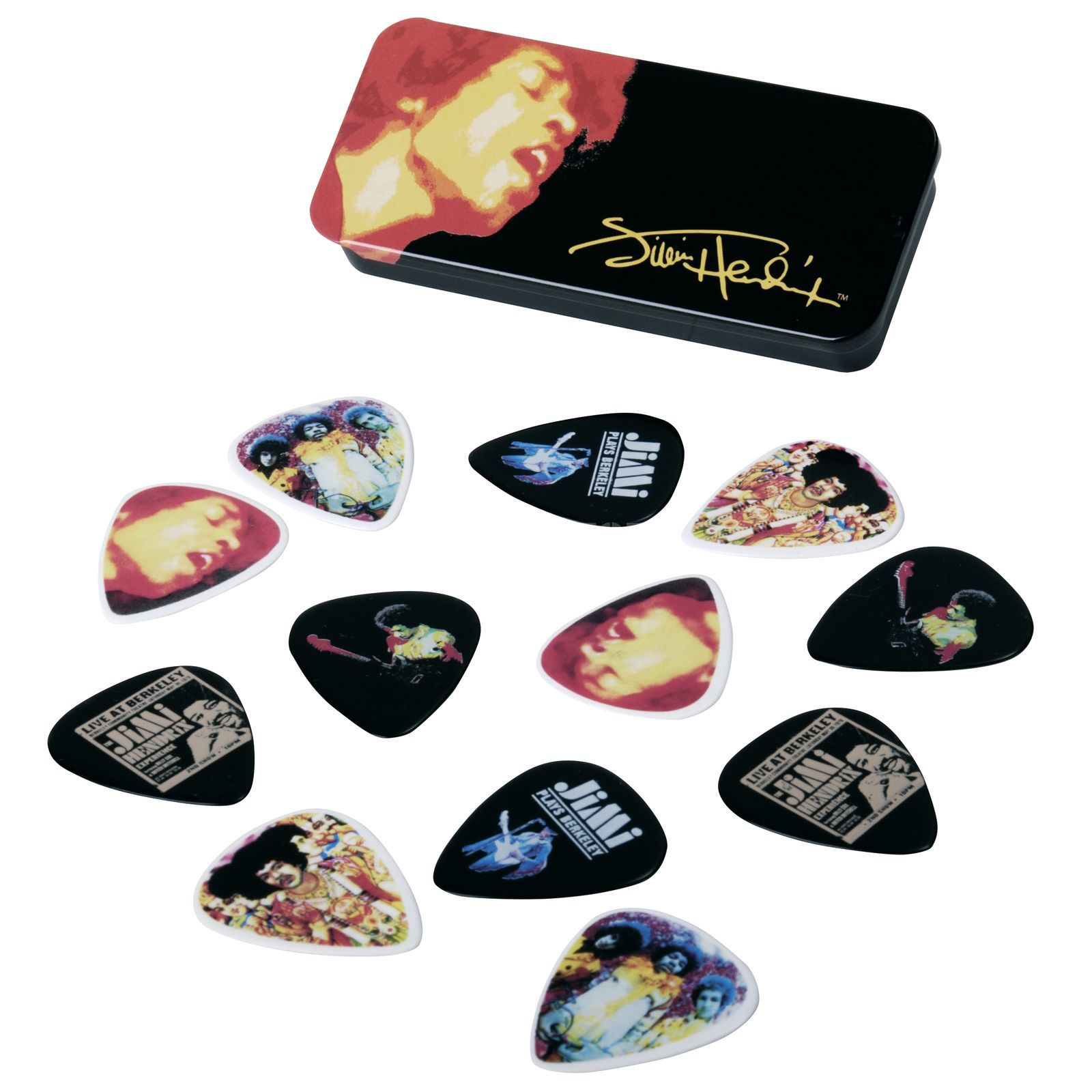 Dunlop Jimi Hendrix Picks - Electric Ladyland heavy - Box of 12 Produktbillede
