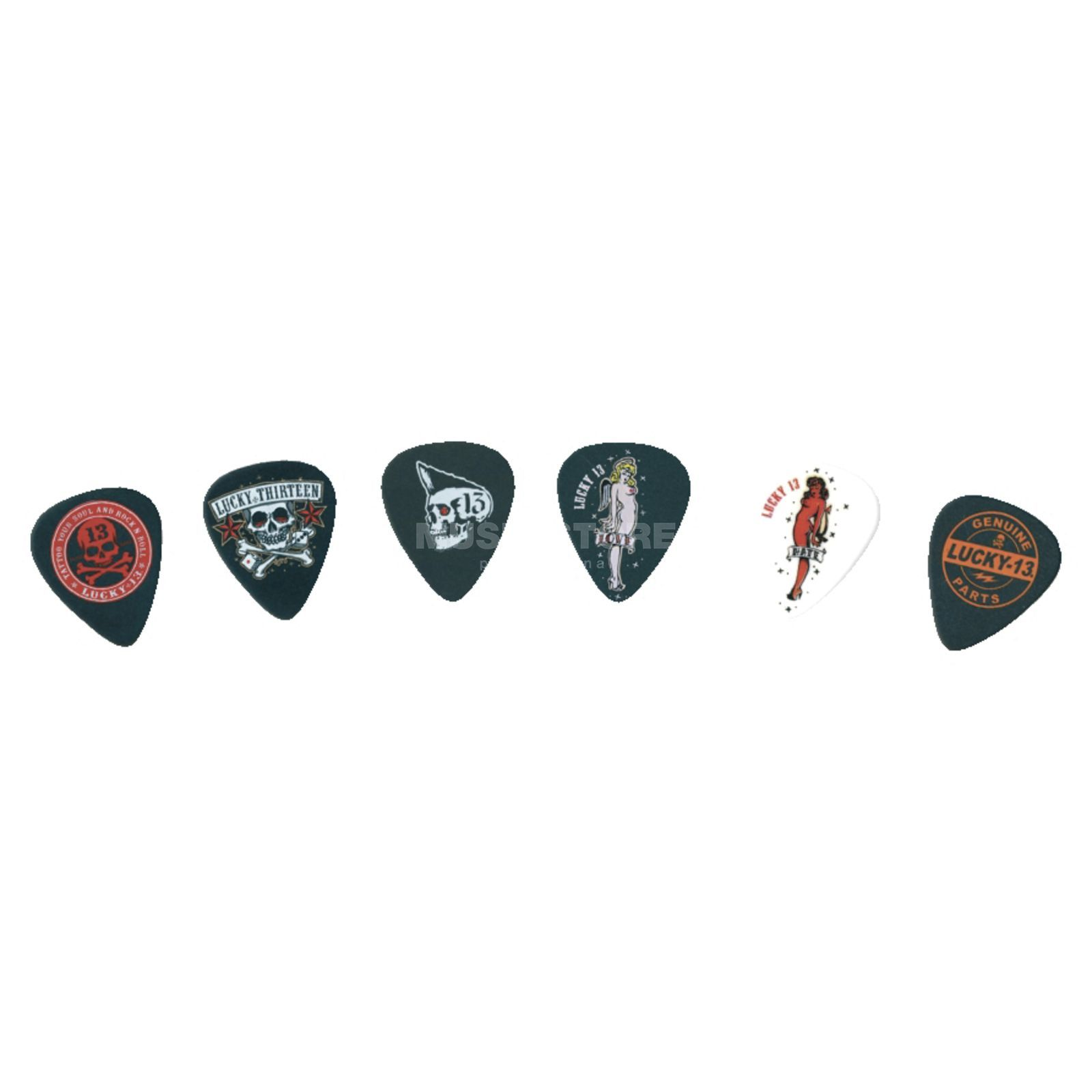 Dunlop Lucky 13 II Plektrum, 0,60 mm 6er-Set, Series II Produktbillede