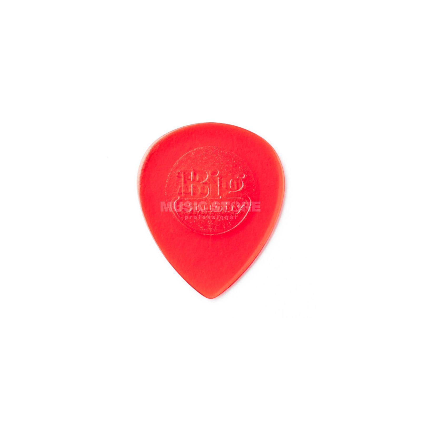 Dunlop Plektrum Big Stubby 1,00 6er-Set Red Transparent Produktbild