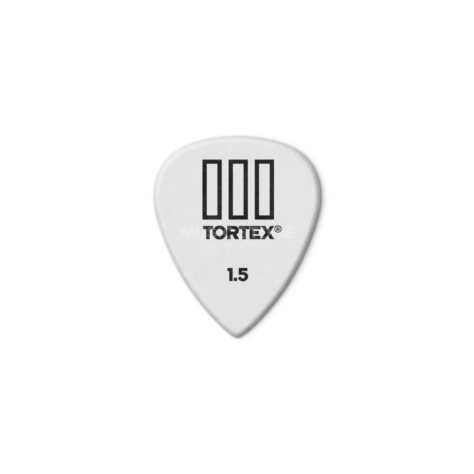 Dunlop Tortex III 462 Picks 1,50 12-Pack, white Produktbillede