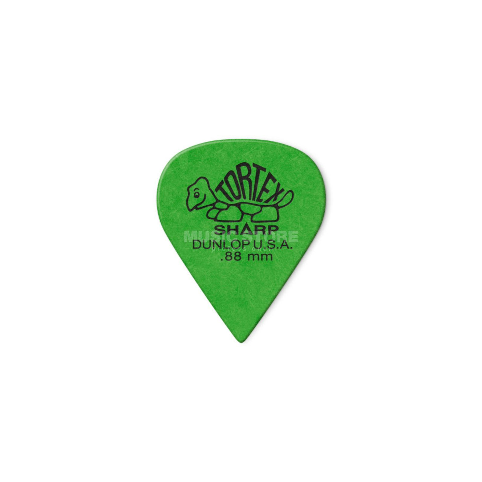 "Dunlop Tortex Sharp 412 Picks 0.88"" green x12 Produktbillede"