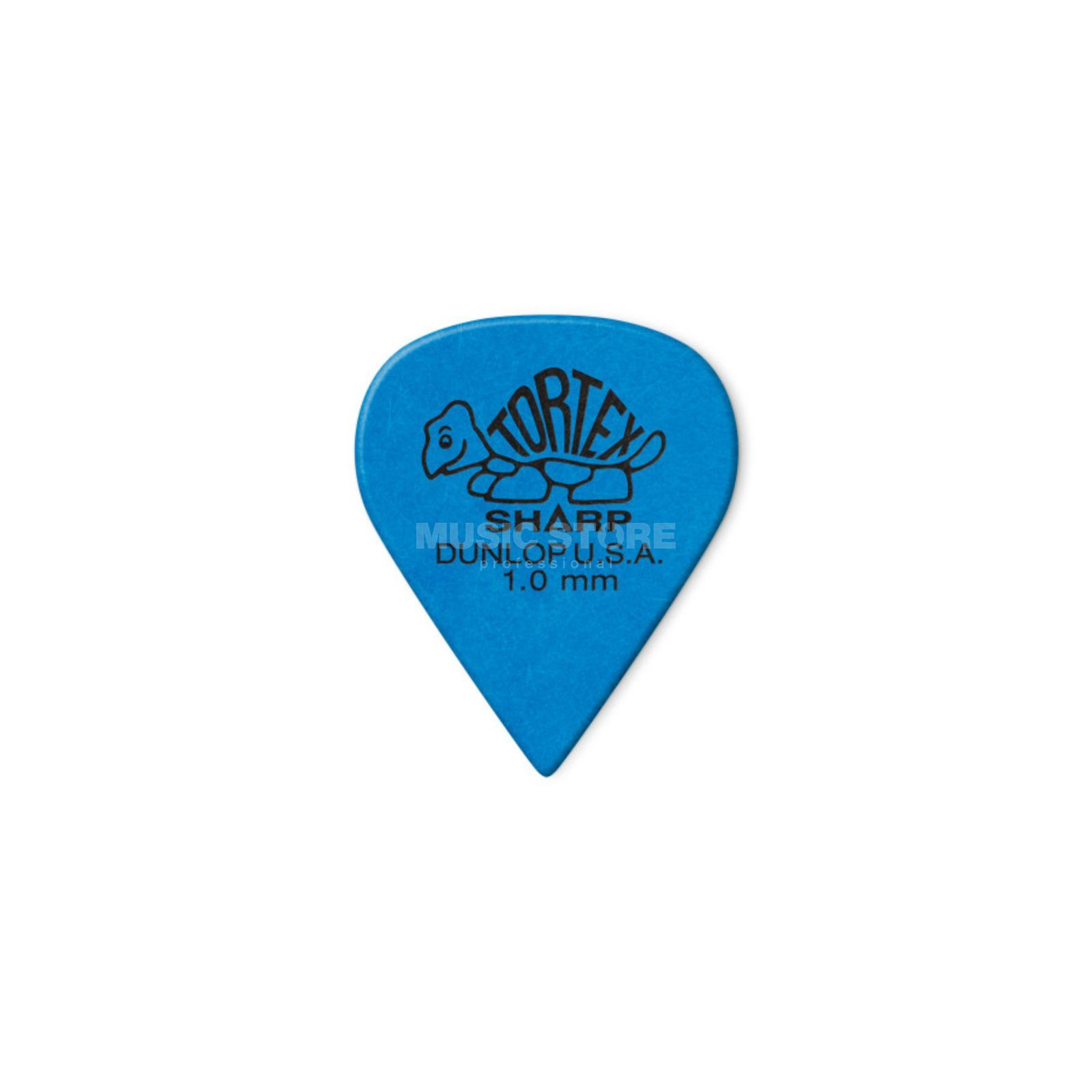 "Dunlop Tortex Sharp 412 Picks 1.00"" blue x12 Produktbillede"