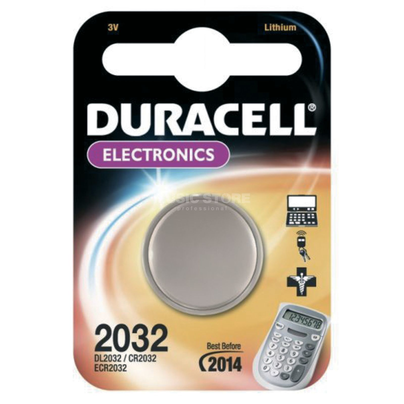 Duracell CR2032 1 Button Cell, 3V, Lithium Produktbillede