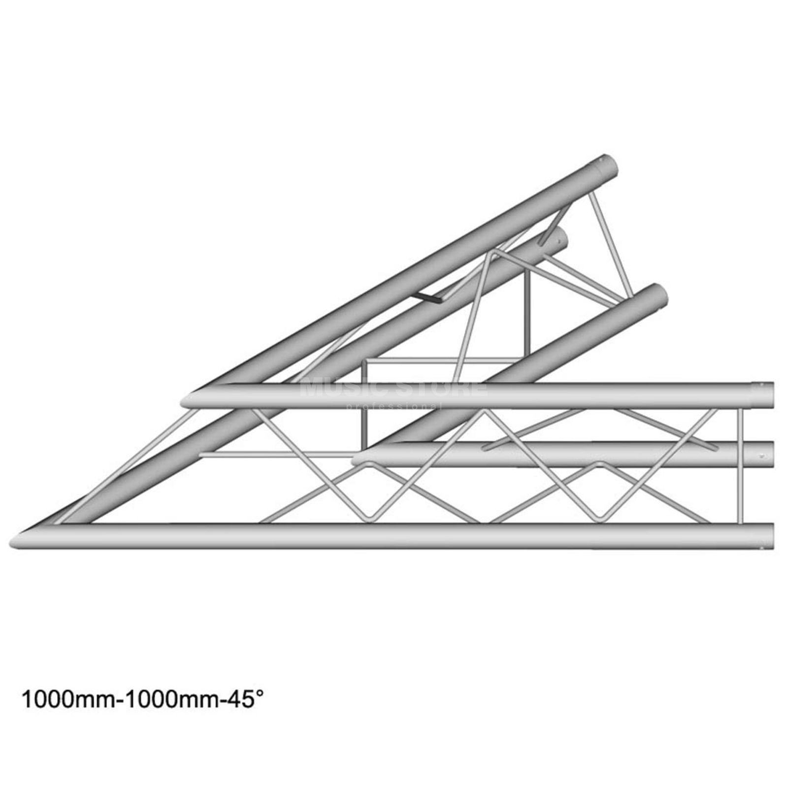 DURATRUSS DT 23 C19-L45, 3-Point Truss 45° Corner, 2-Way Produktbillede