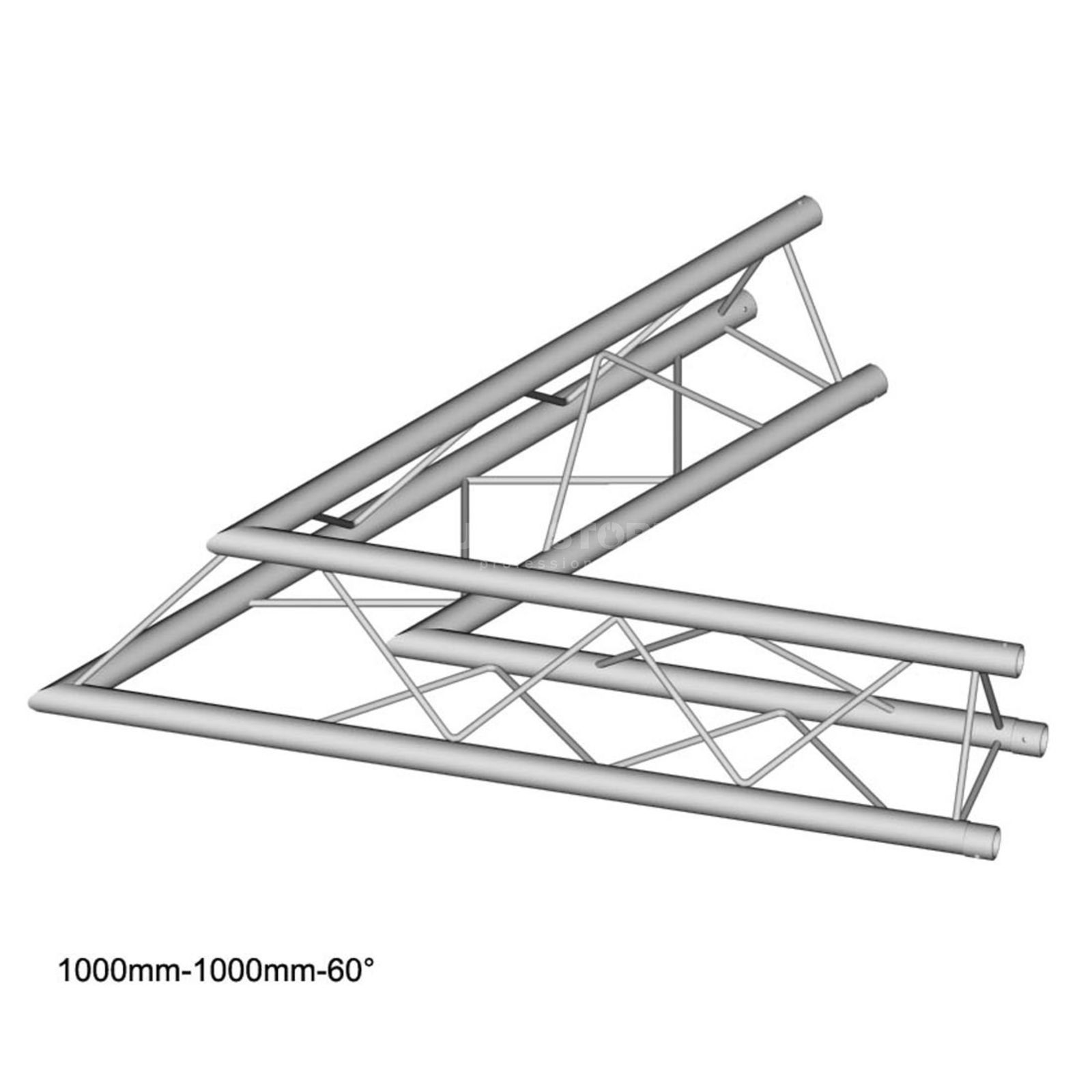 DURATRUSS DT 23 C20-L60, 3-Point Truss 60° Corner, 2-Way Produktbillede