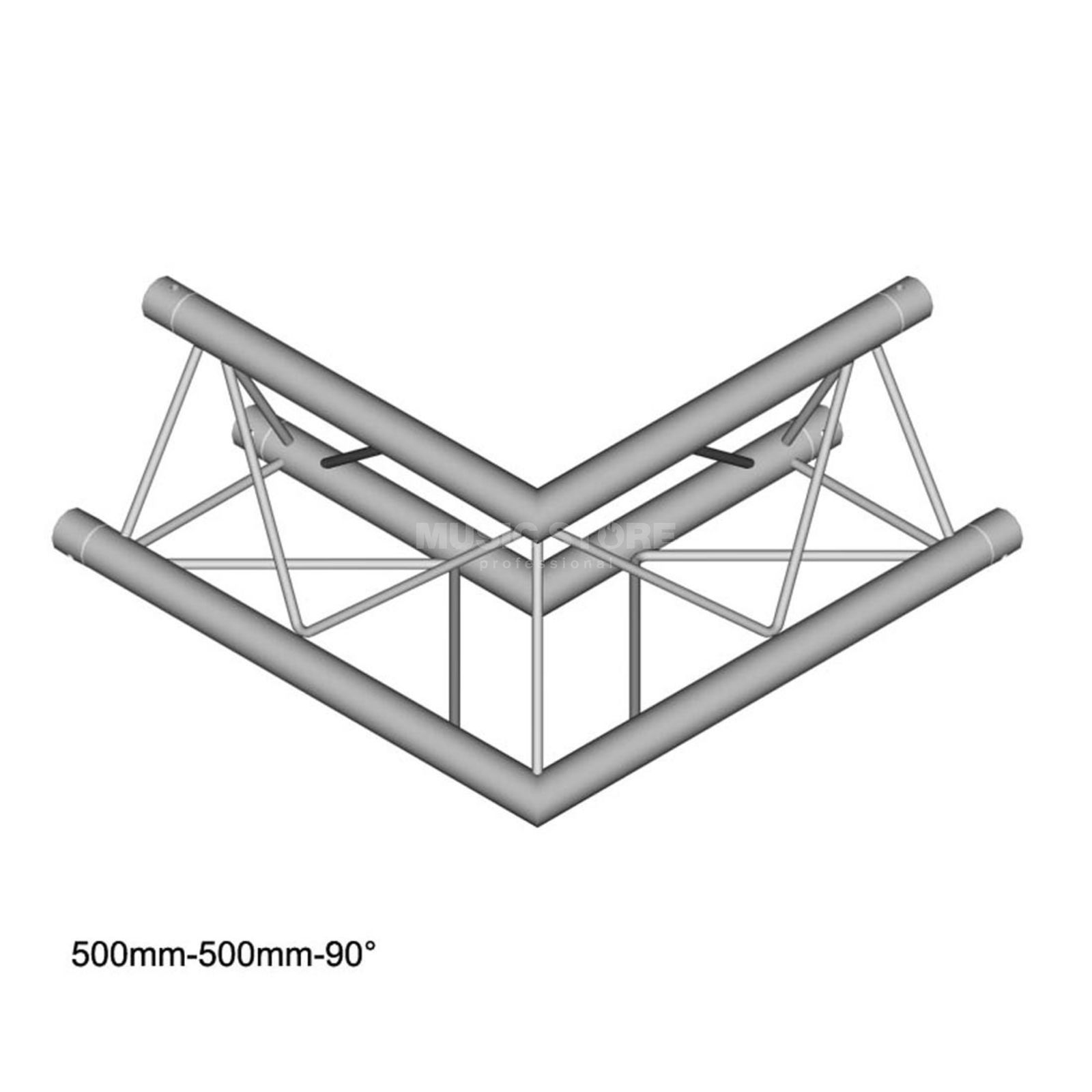 DURATRUSS DT 23 C21-L90, 3-Point Truss 90° Corner, 2-Way Produktbillede