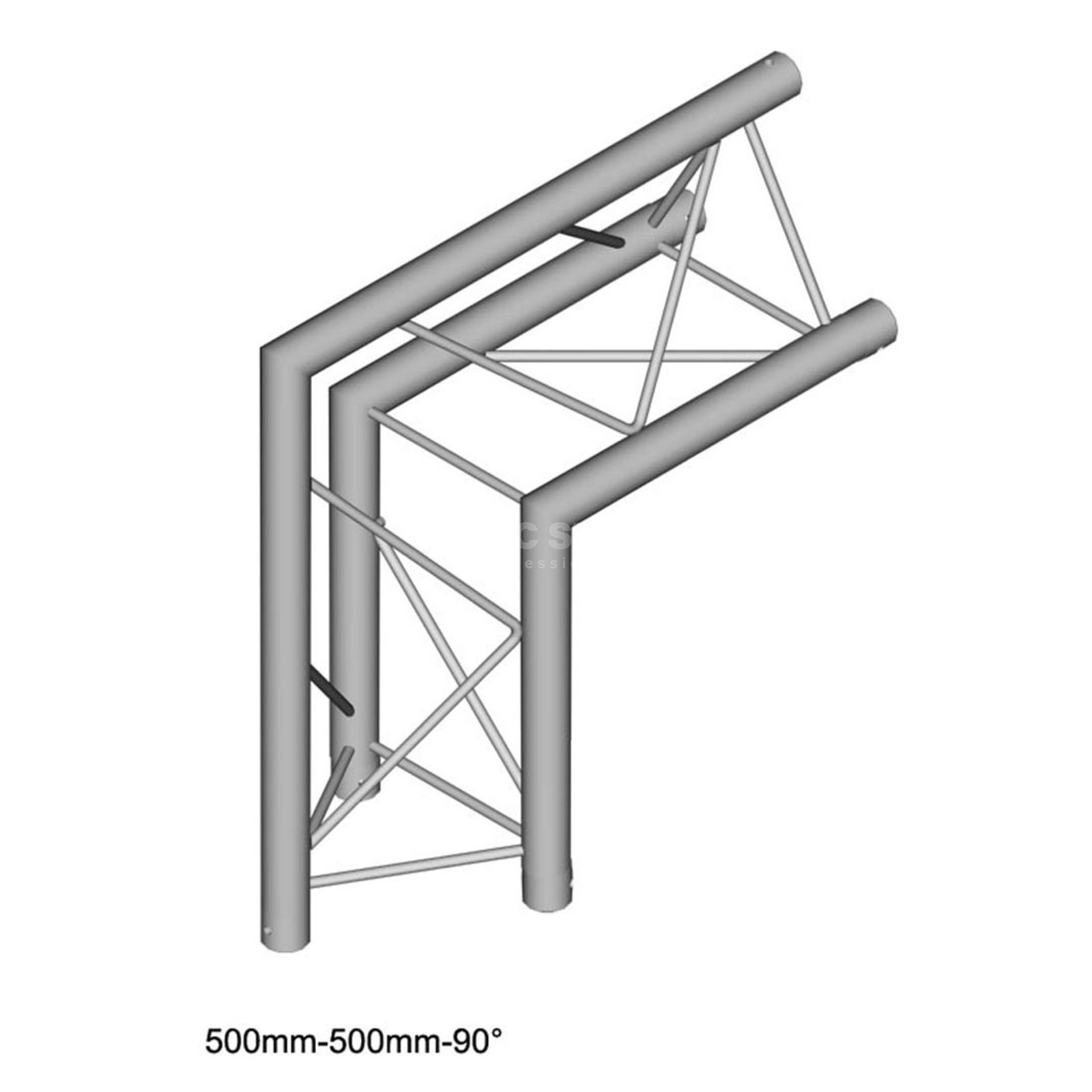 DURATRUSS DT 23 C24-L90, 3-Point Truss 90° Corner, 2-Way, Tip outer Produktbillede