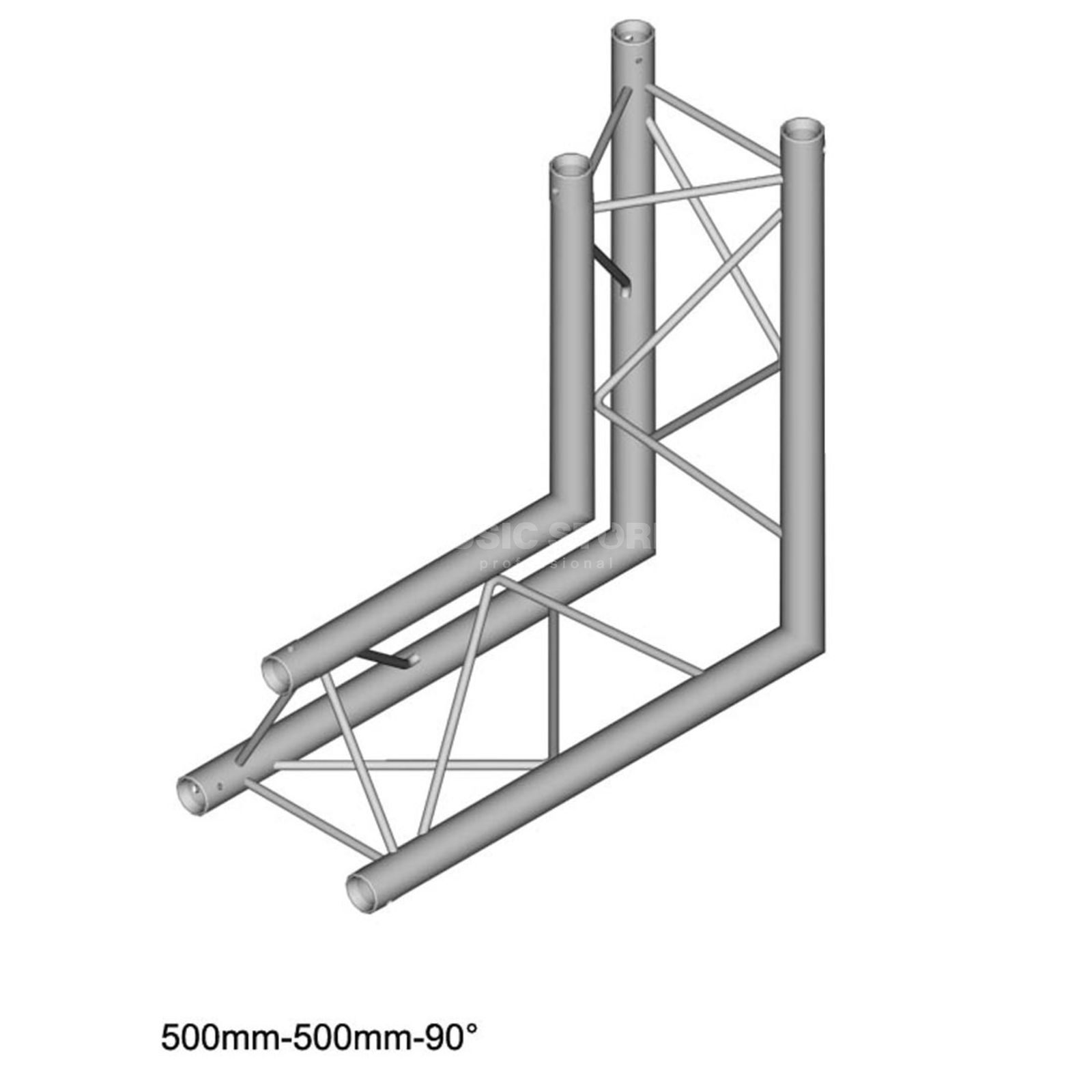 DURATRUSS DT 23 C25-L90, 3-Point Truss 90° Corner, 2-Way, Tip inner Produktbillede
