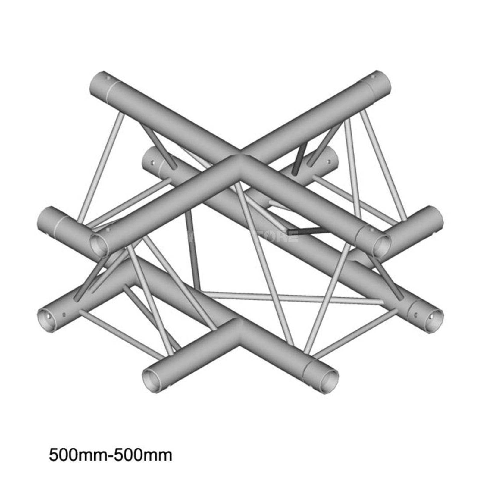 DURATRUSS DT 23 C41, 3-Point Truss Cross, 4-Way Produktbillede