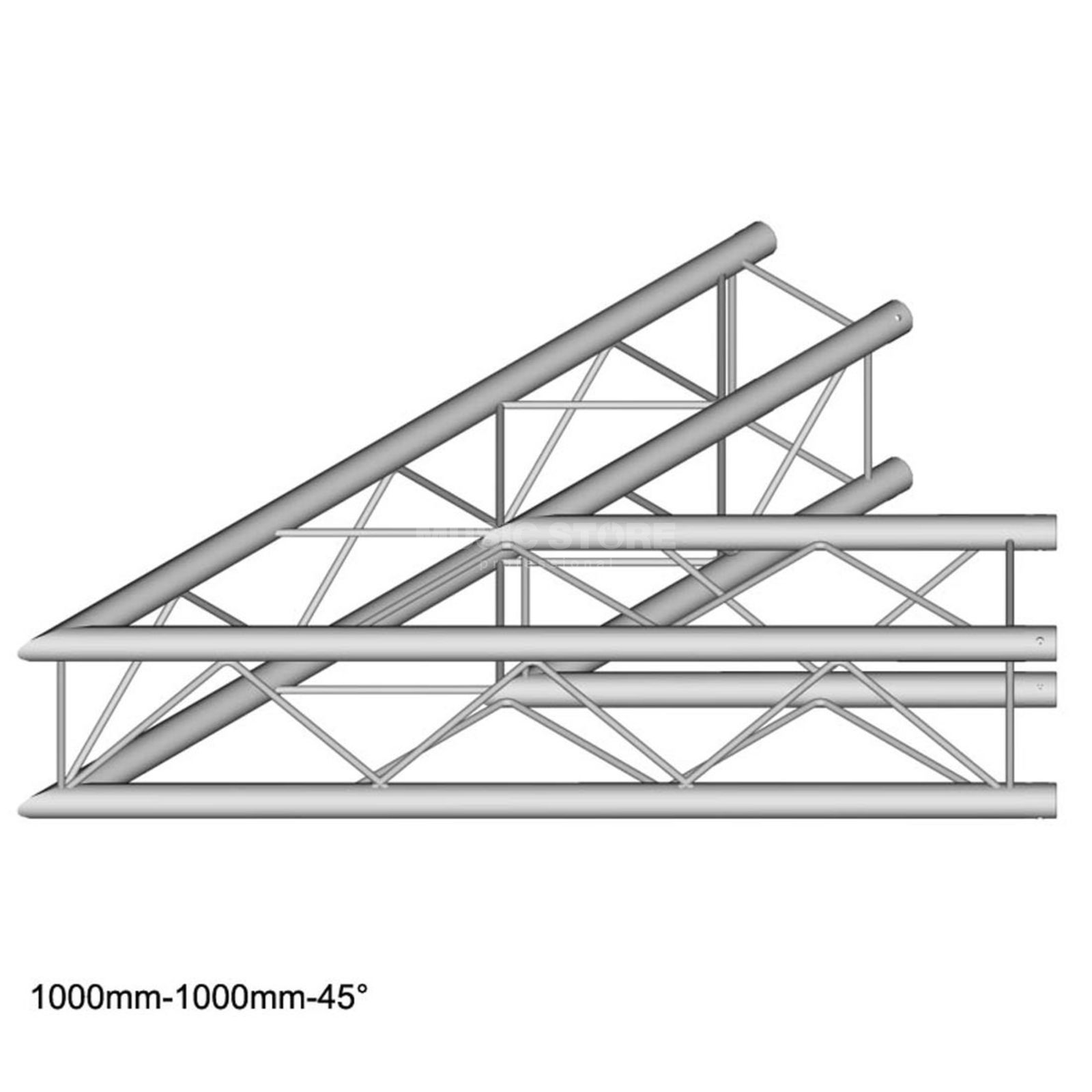 DURATRUSS DT 24 C19-L45, 4-Point Truss 45° Corner, 2-Way, 100cm Produktbillede