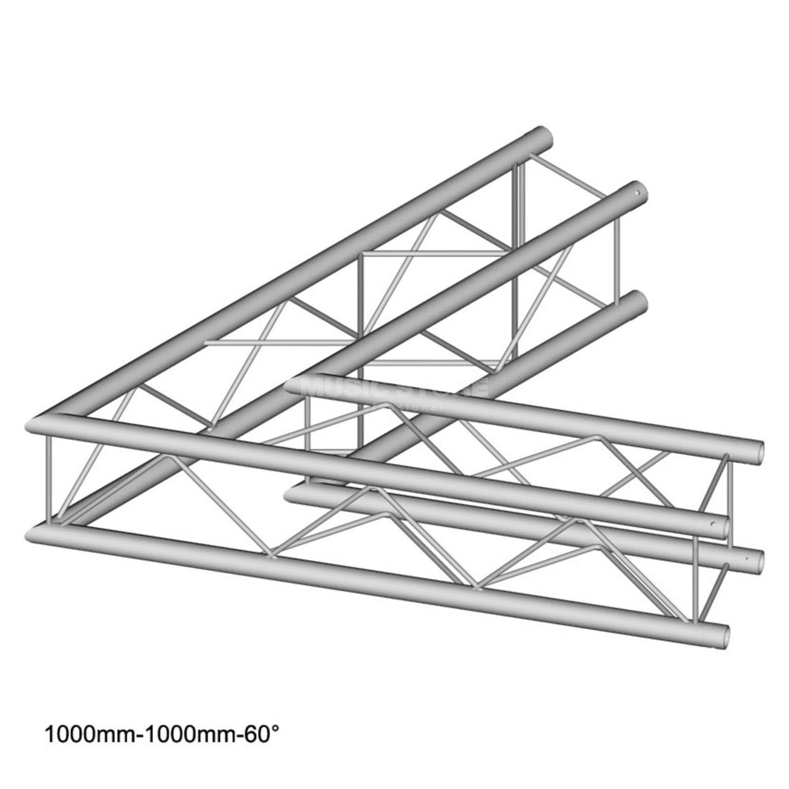 DURATRUSS DT 24 C20-L60, 4-Point Truss 60° Corner, 2-Way, 100cm Produktbillede
