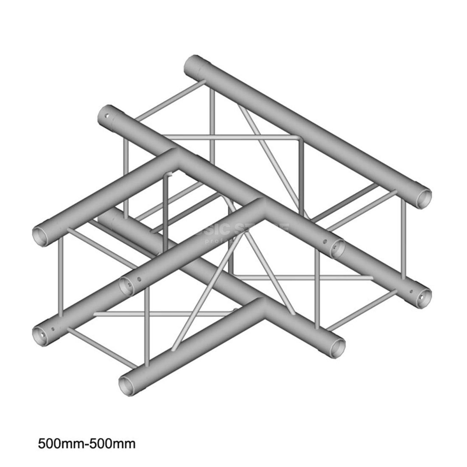 DURATRUSS DT 24 T35, 4-Point Truss T-Piece, 3-Way, 50cm Produktbillede