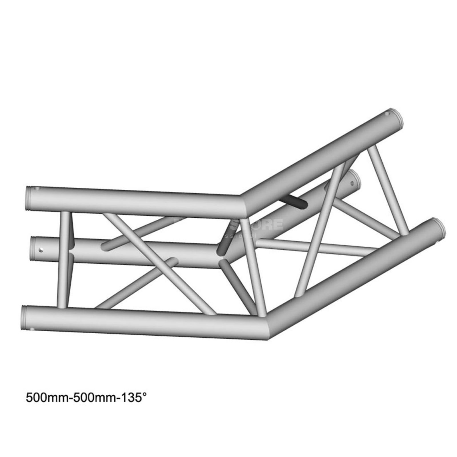 DURATRUSS DT 33-C23-L135, 3-Point Truss 135° Corner, 2-Way Produktbillede