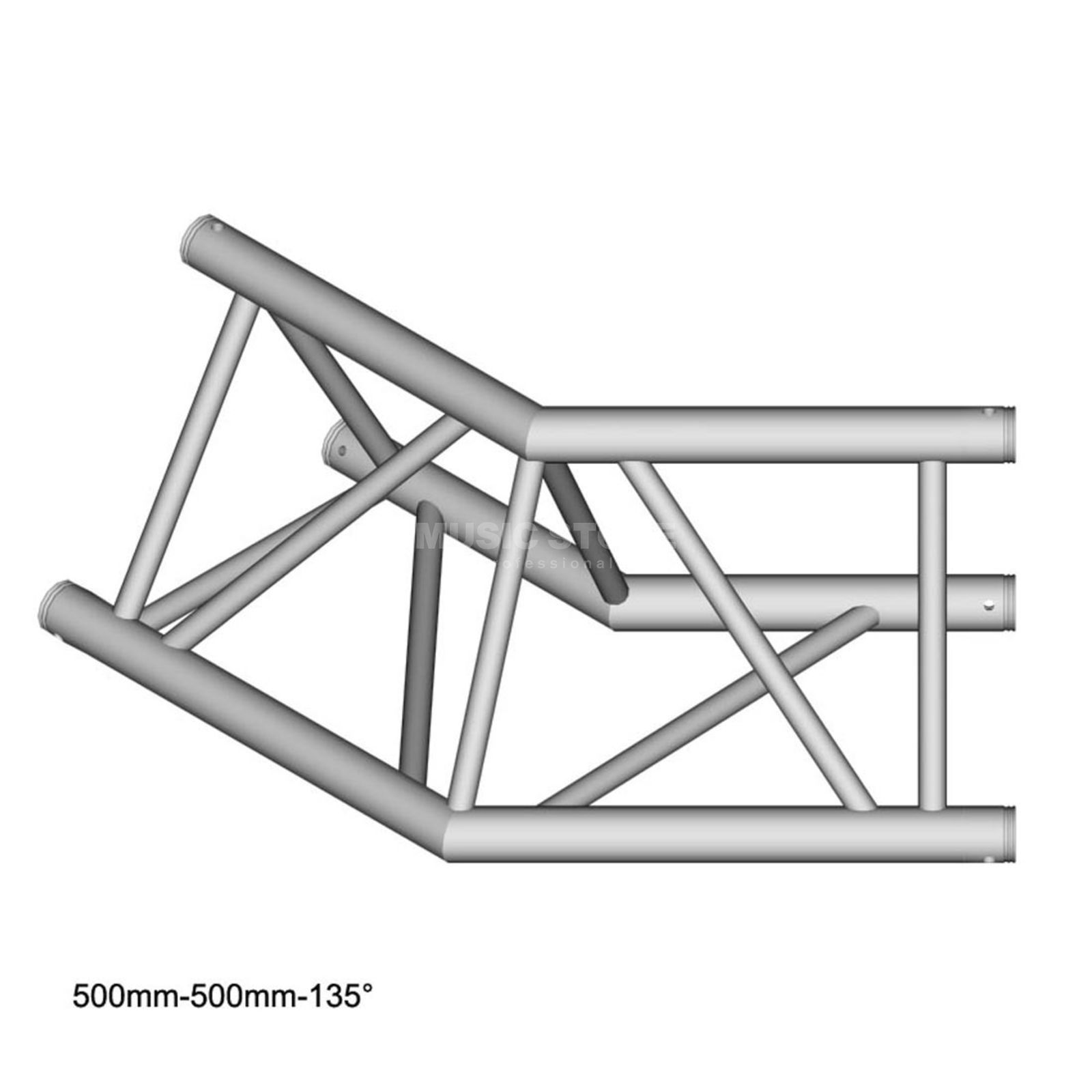 DURATRUSS DT 43 C23-L135, 3-Point Truss 135° Corner, 2-Way Produktbillede