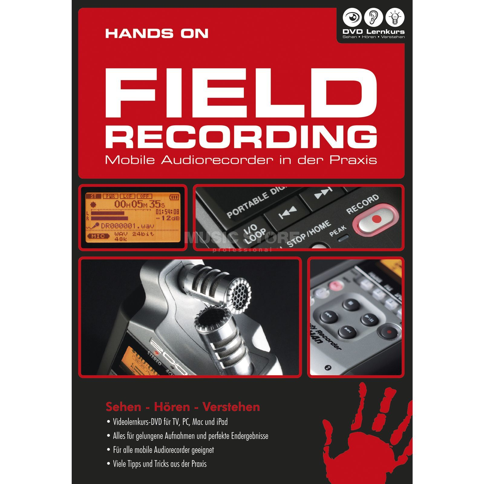 DVD Lernkurs Hands on Field Recording Mobile Recorder in der Praxis Image du produit
