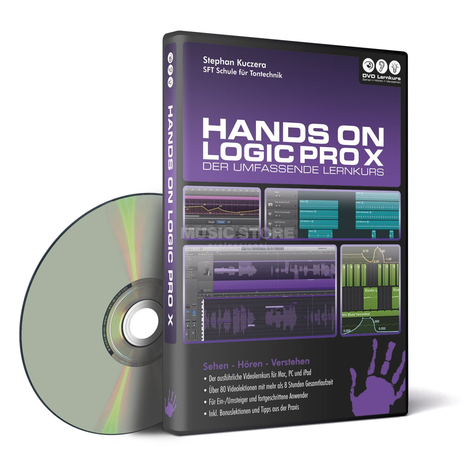 DVD Lernkurs Hands on Logic Pro X Produktbild