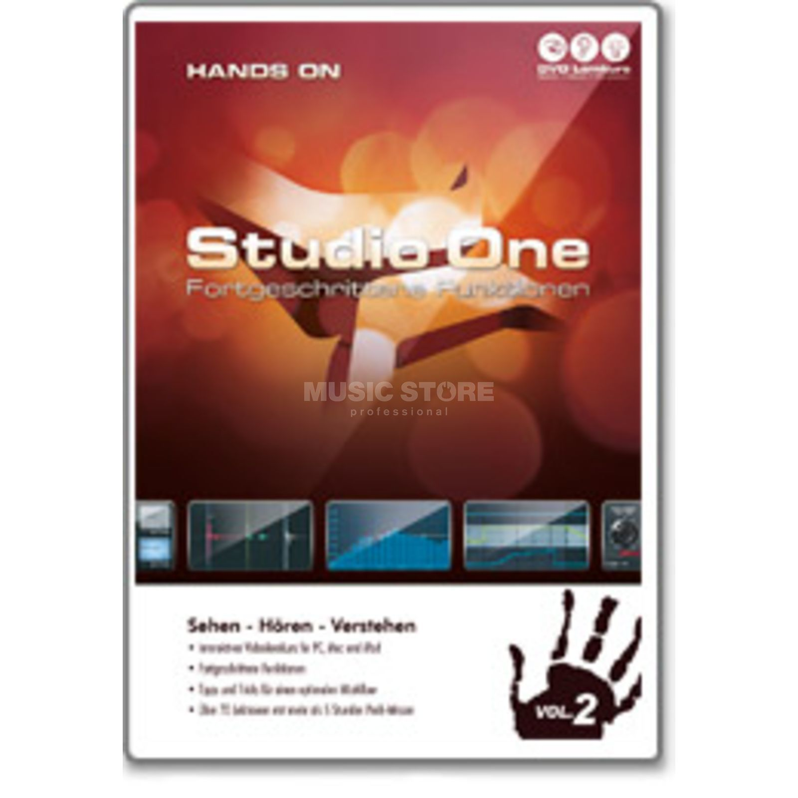 DVD Lernkurs Hands On Studio One Two Vol.2 Fortgeschrittene B-Stock Produktbild
