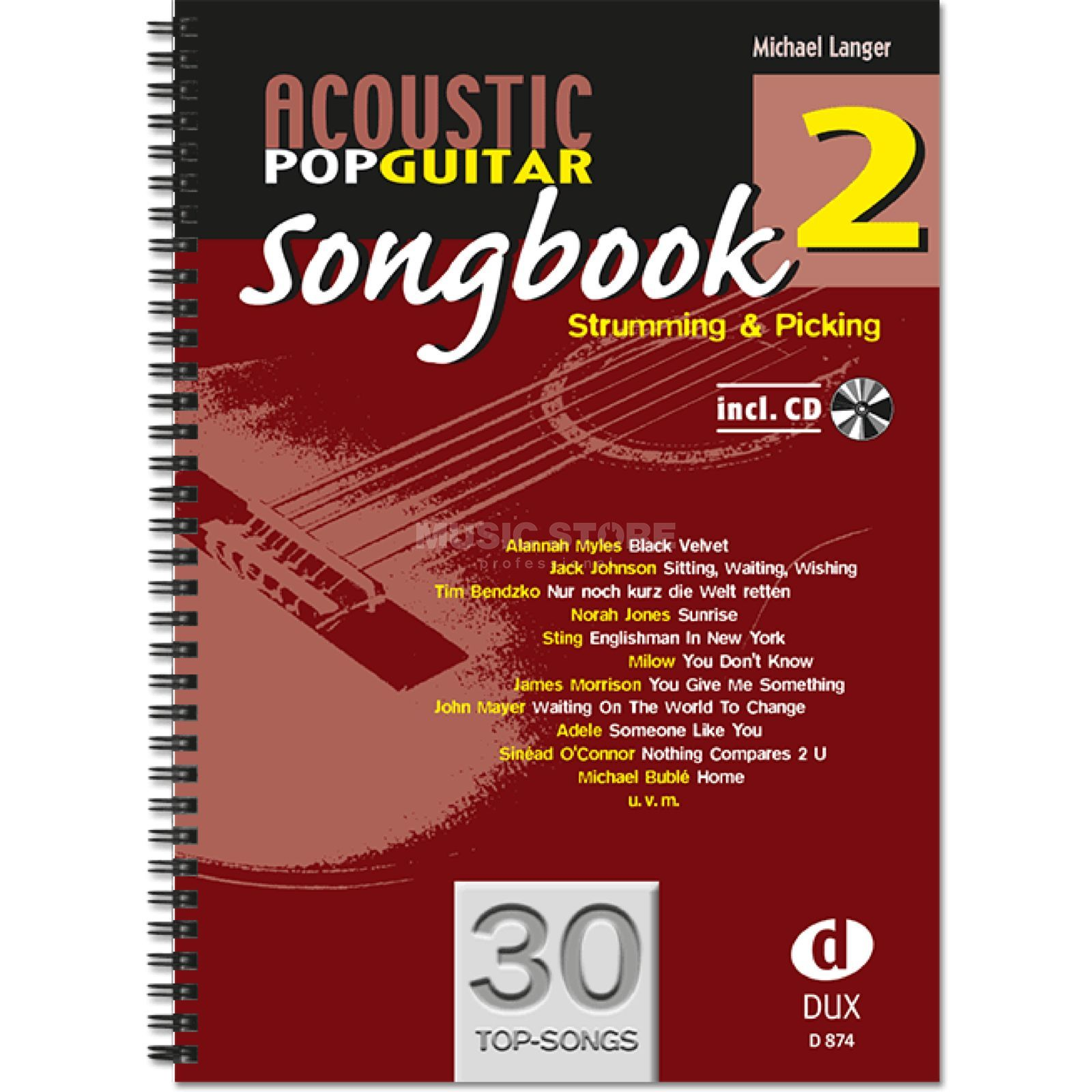 Edition Dux Acoustic Pop Guitar Songbook 2 Produktbild