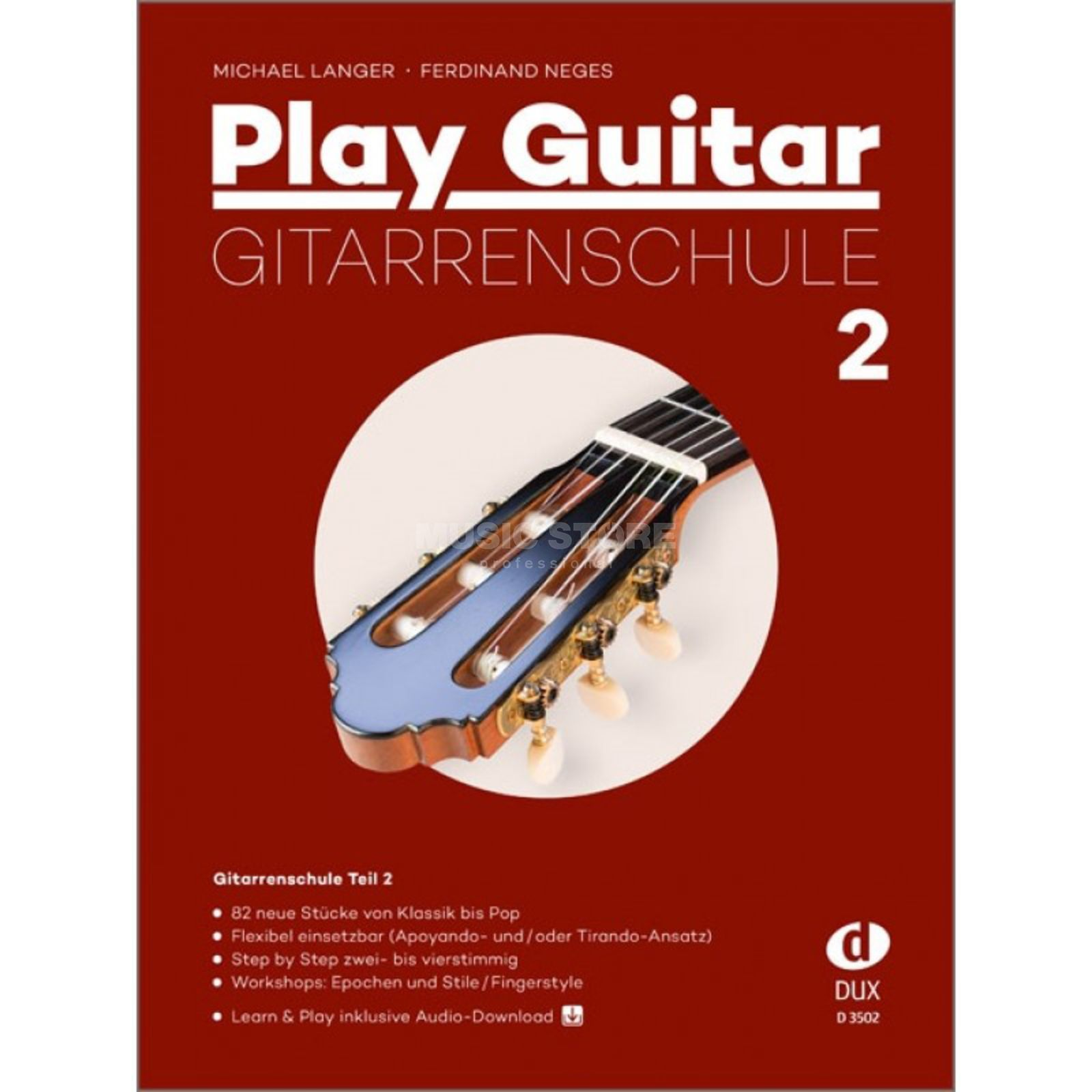 Edition Dux Play Guitar Gitarrenschule 2 - Michael Langer, Ferdinand Neges Product Image