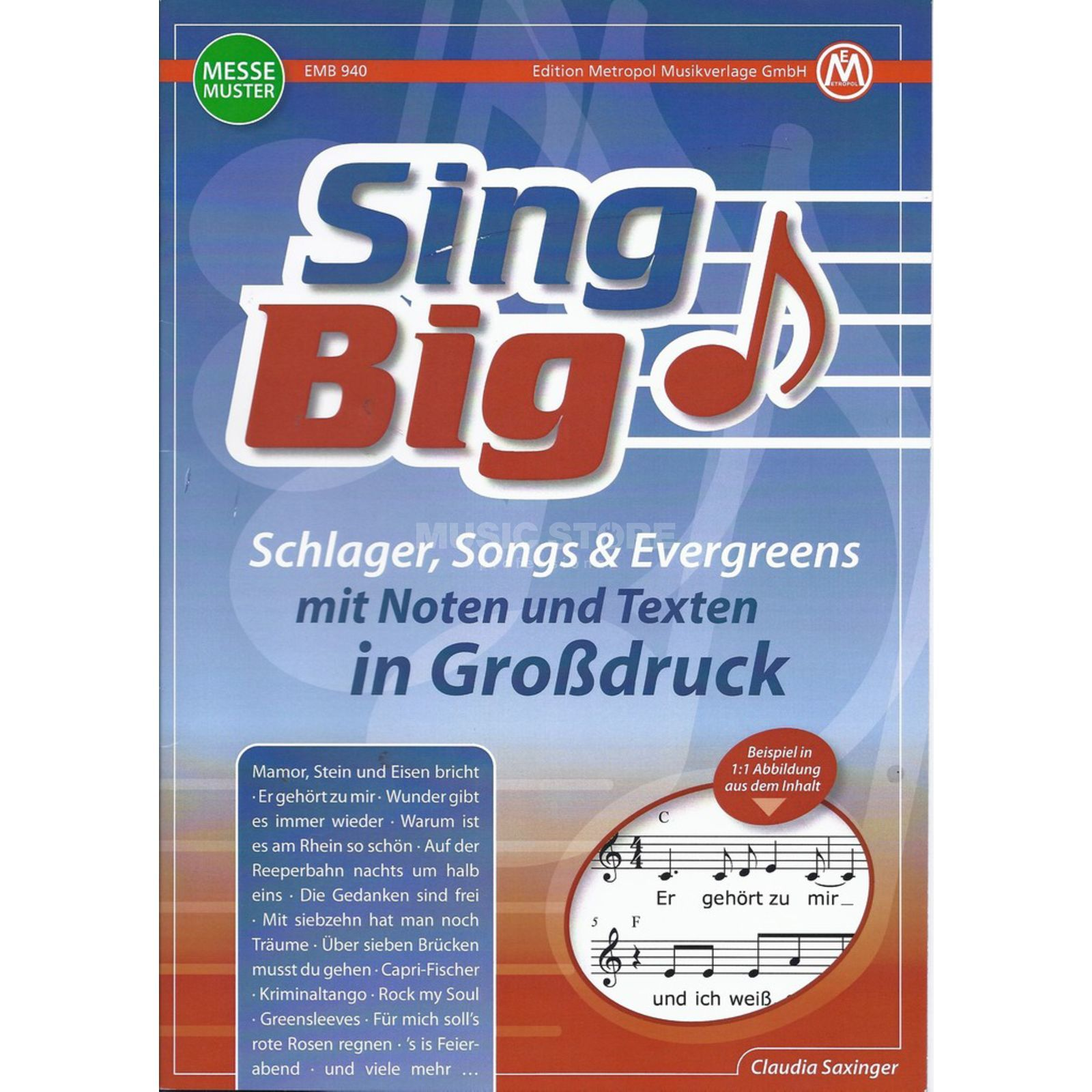 Edition Metropol Sing Big - Schlager, Songs & Evergreens im Großdruck Produktbild