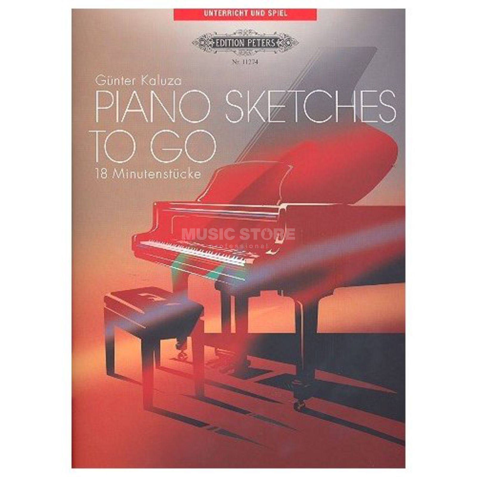 Edition Peters Piano Sketches, Klavier Günter Kaluza Produktbillede